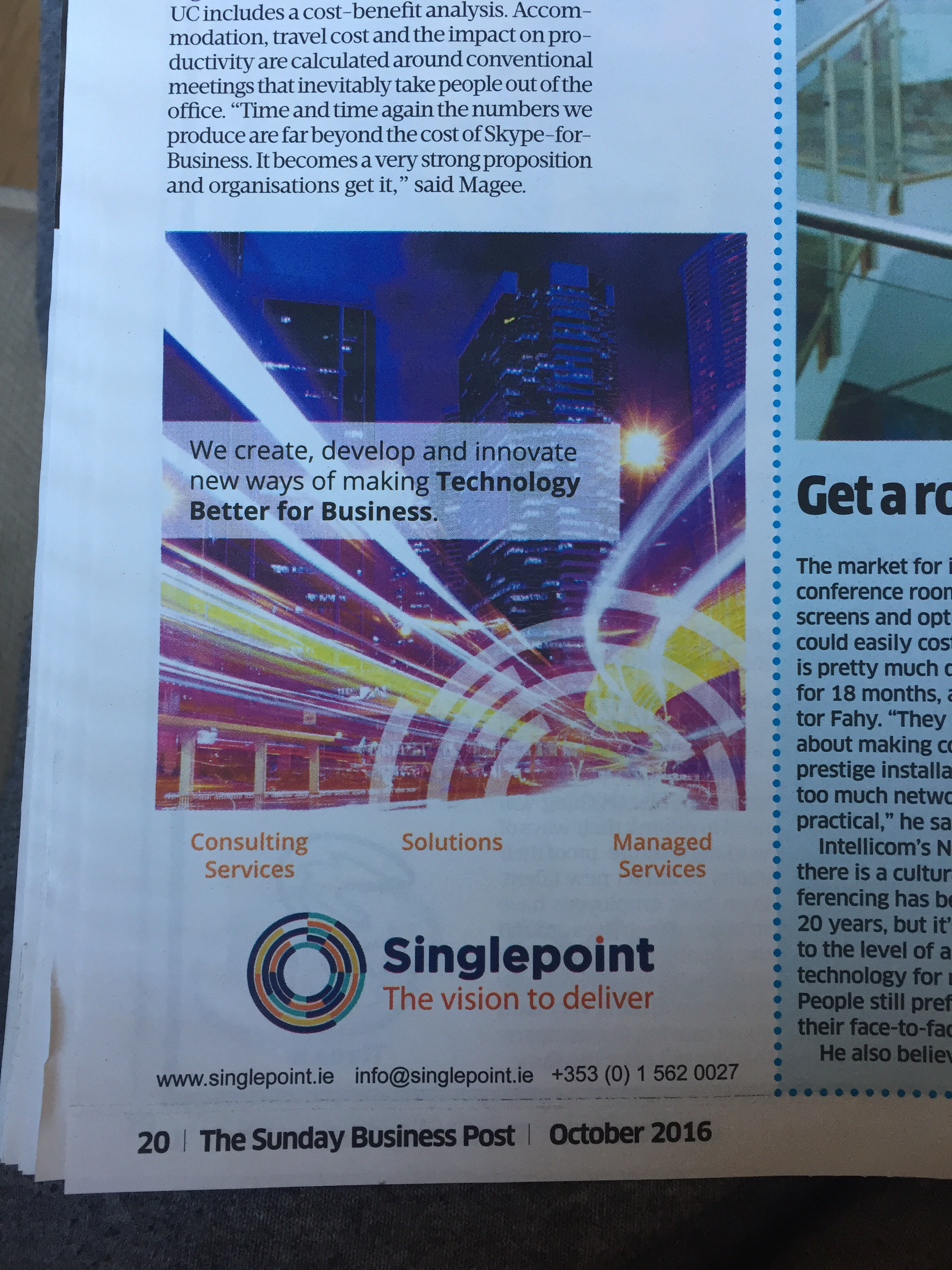 Singlepoint – we create develop and innovate new ways of making technology better for business