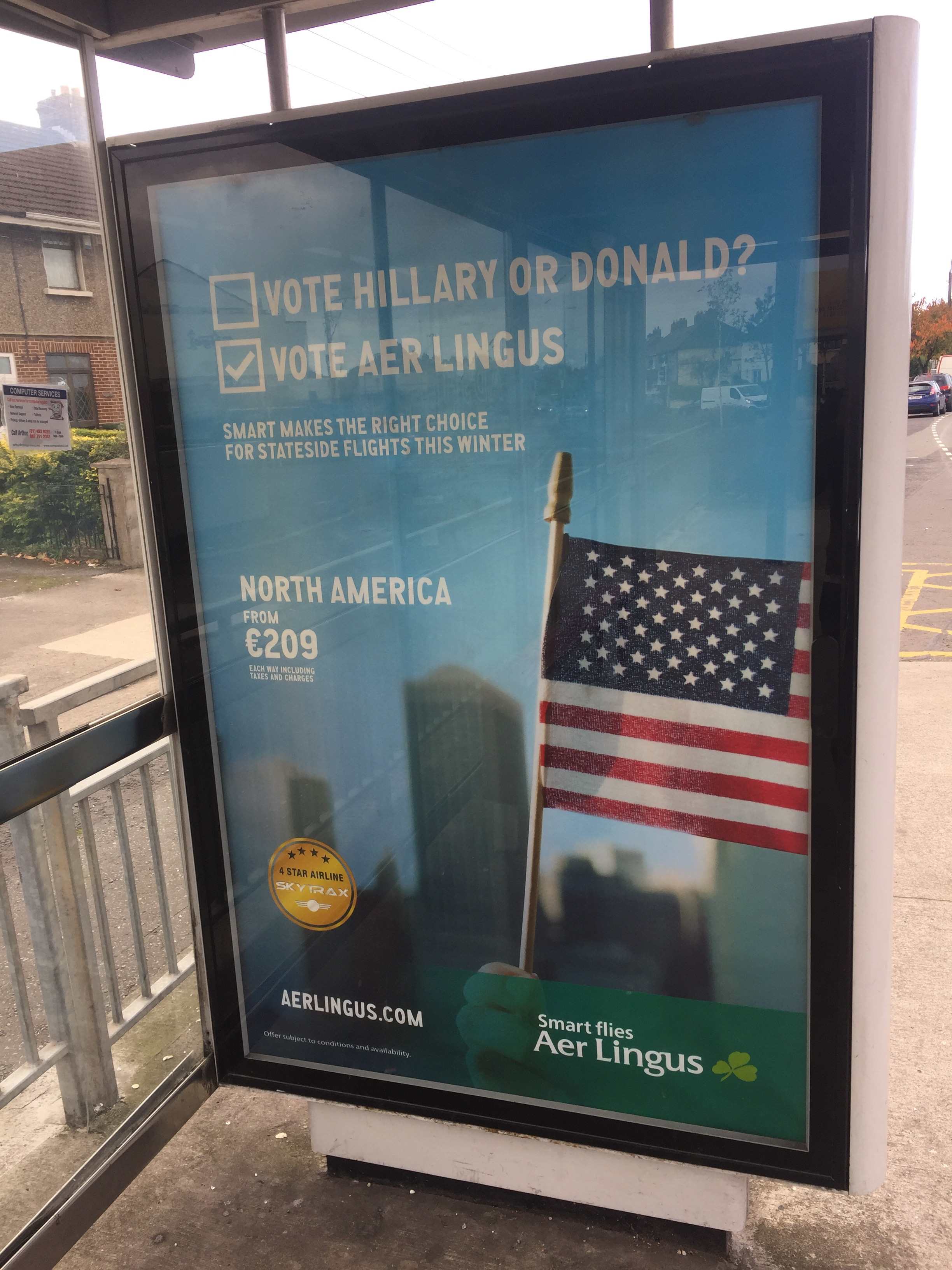 Aer Lingus – Vote Hillary or Donald? Vote Aer Lingus