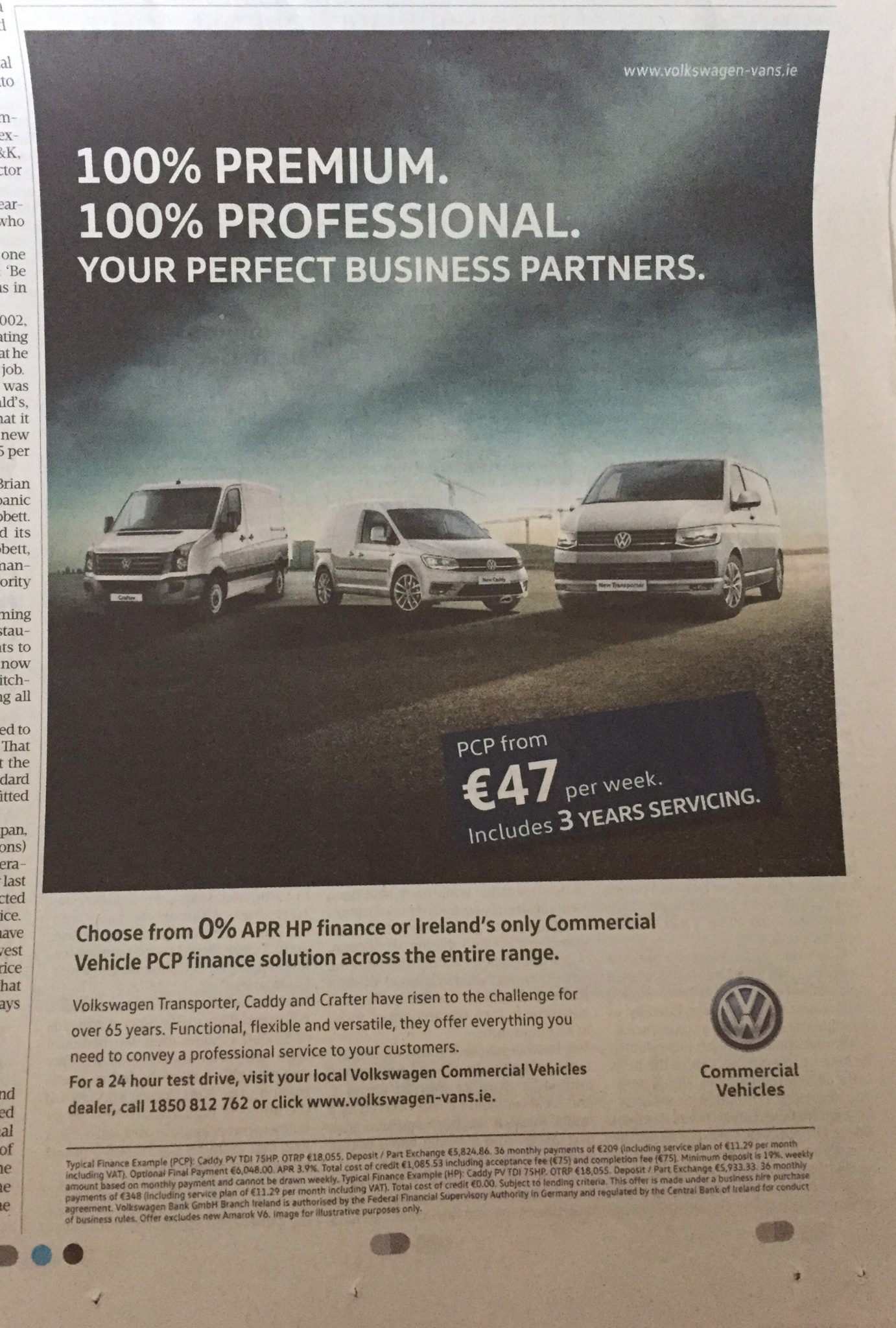 VW Commercial Vehicles – 100% Premium. 100% Professional. Your perfect business partners.
