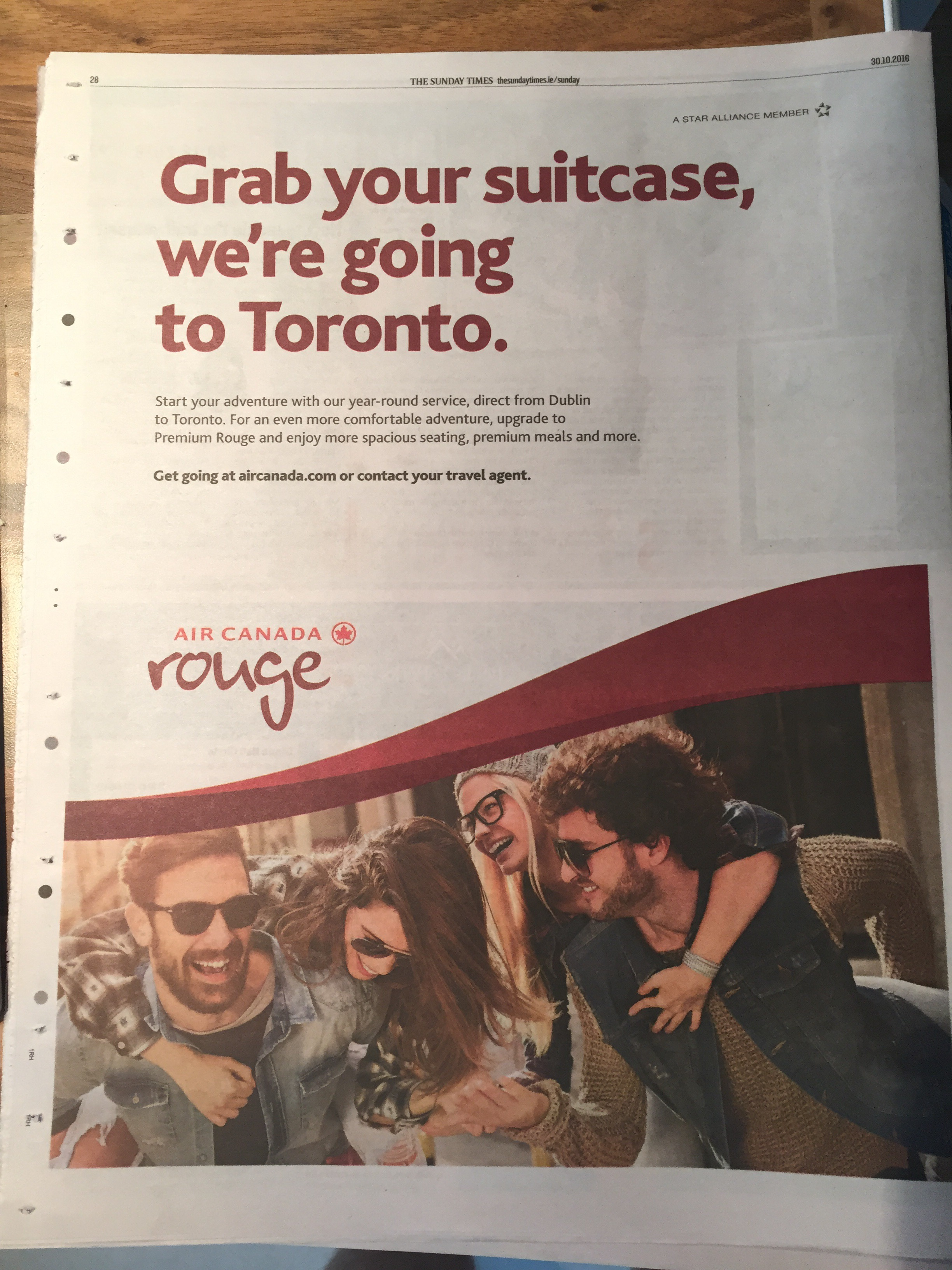Air Canada rouge – grab your suitcase we're going to Toronto