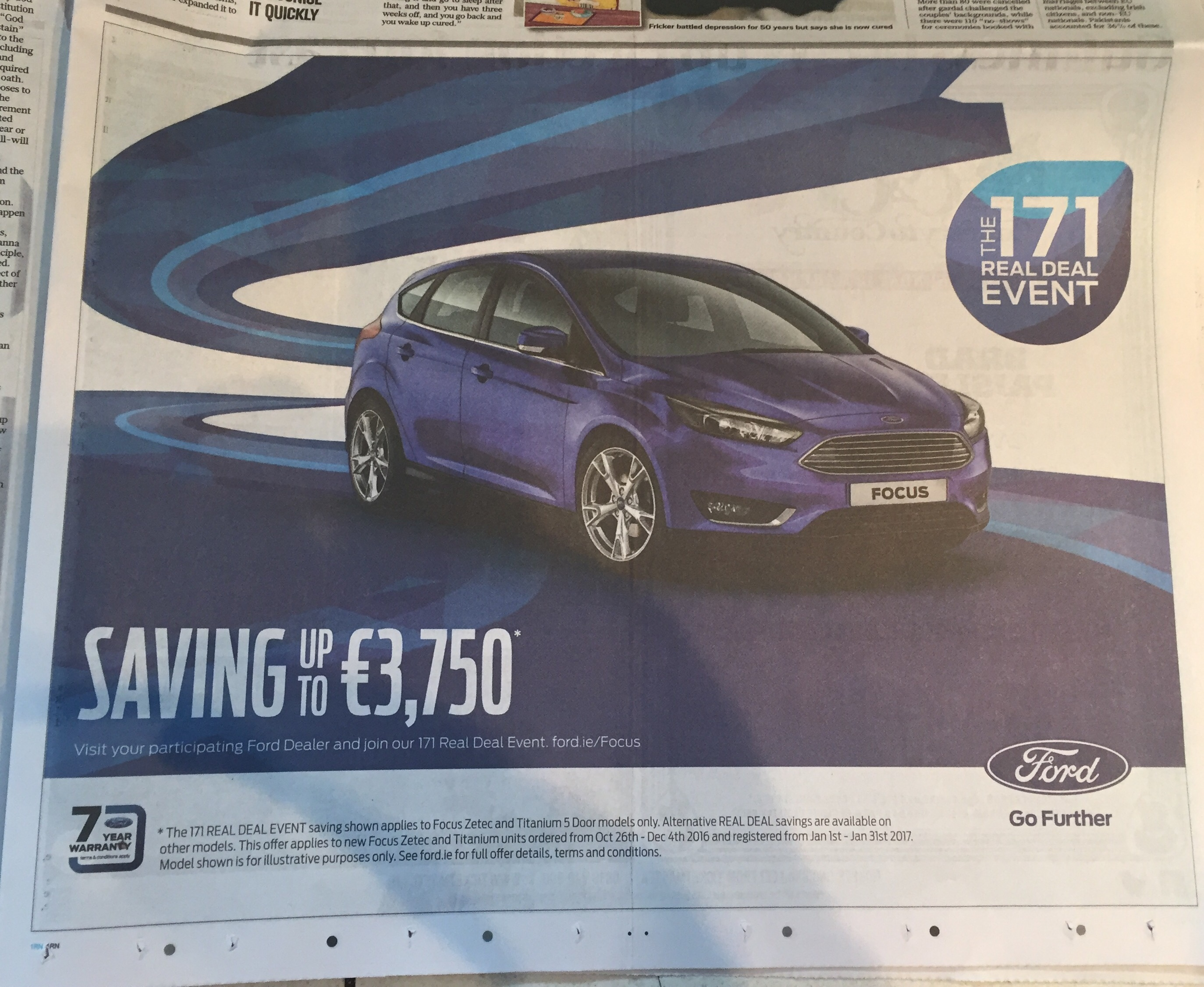 Ford – the 171 real deal event – saving up to €3750
