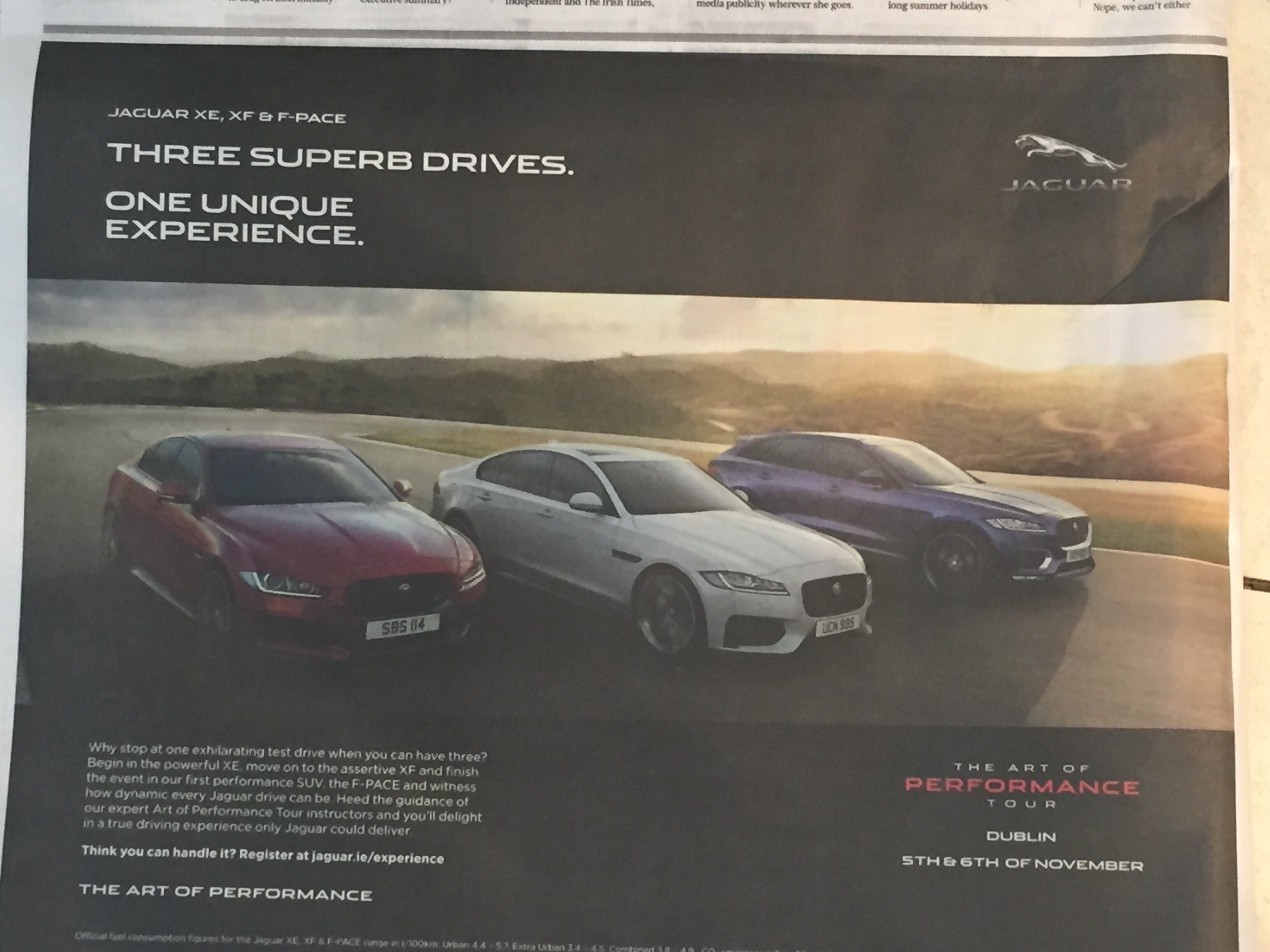 Jaguar – three superb drives. One unique experience.