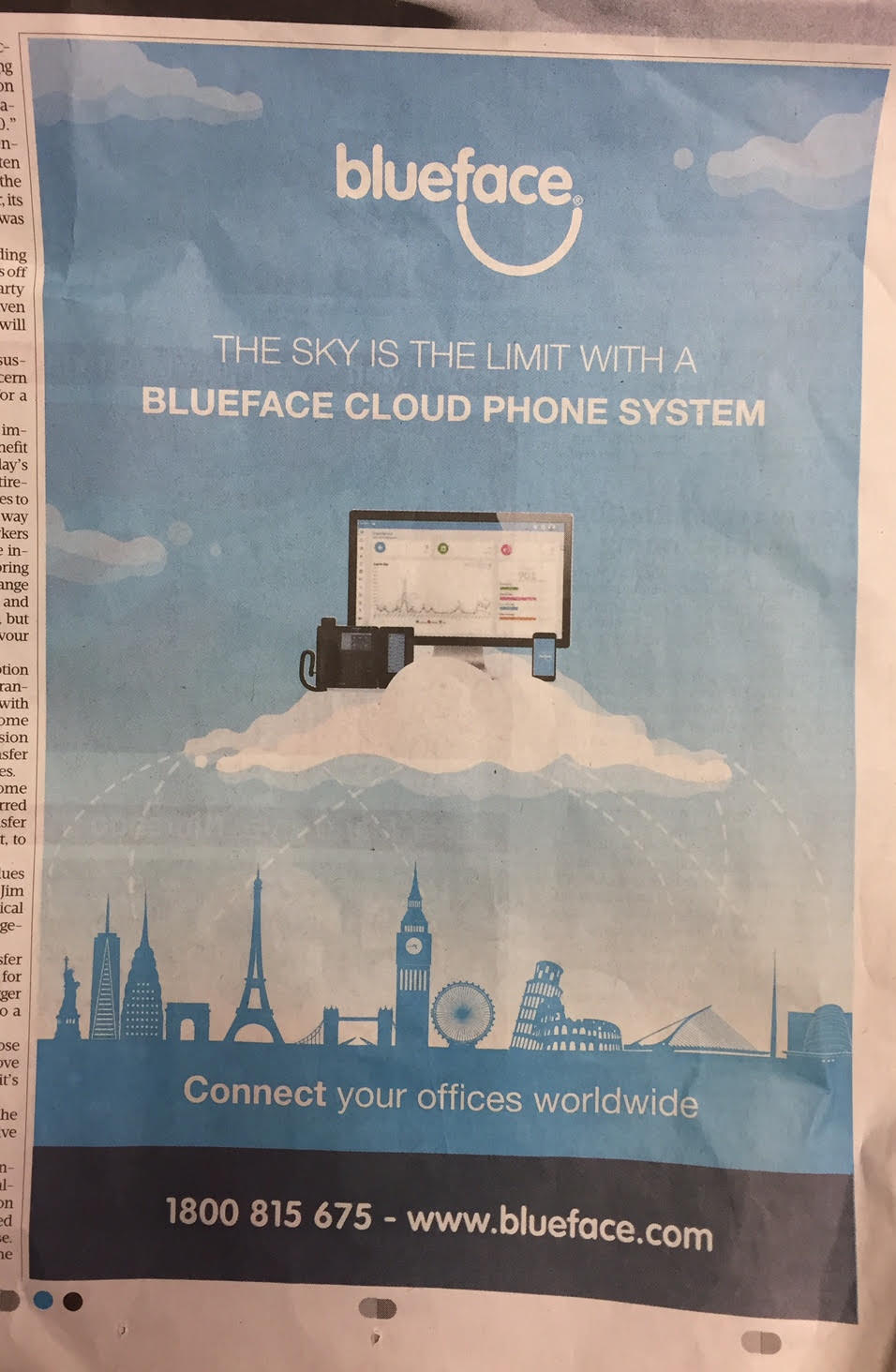 Blueface – The sky is the limit with a Blueface cloud phone system.