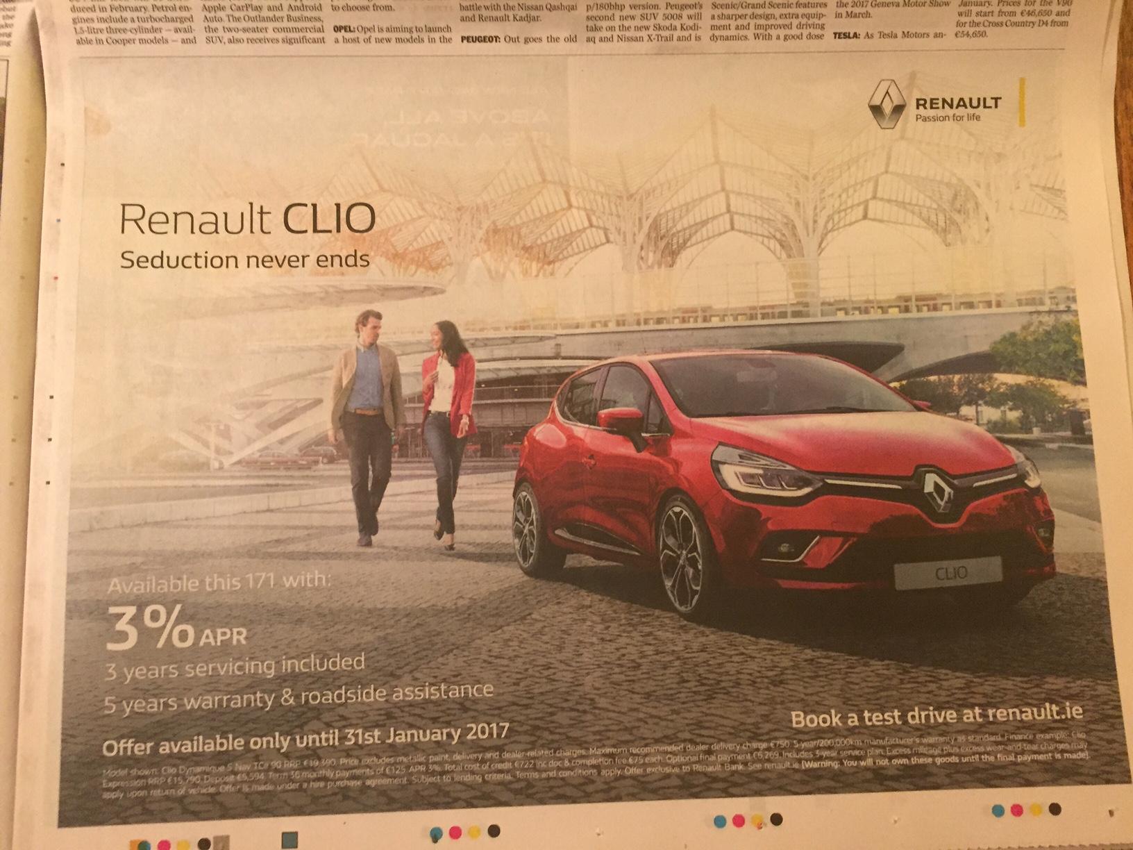 Renault Clio – seduction never ends