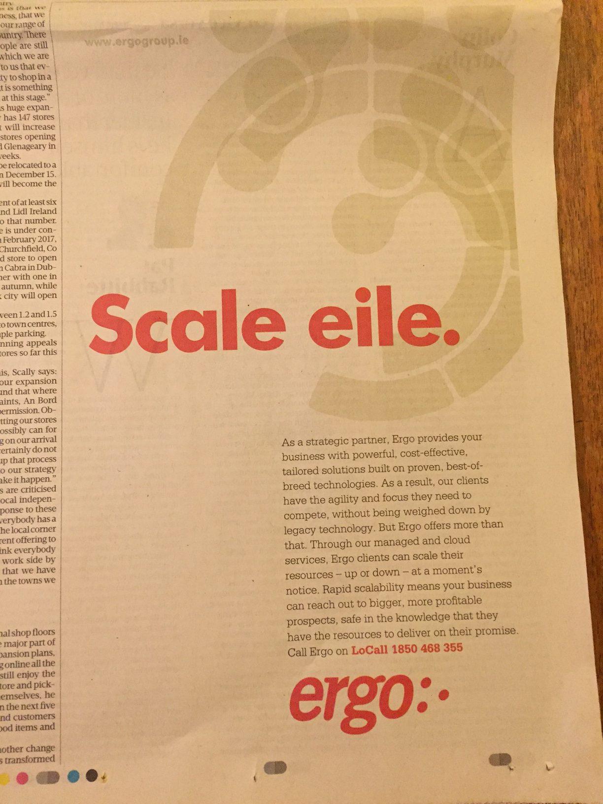 Ergo – Scale eile.