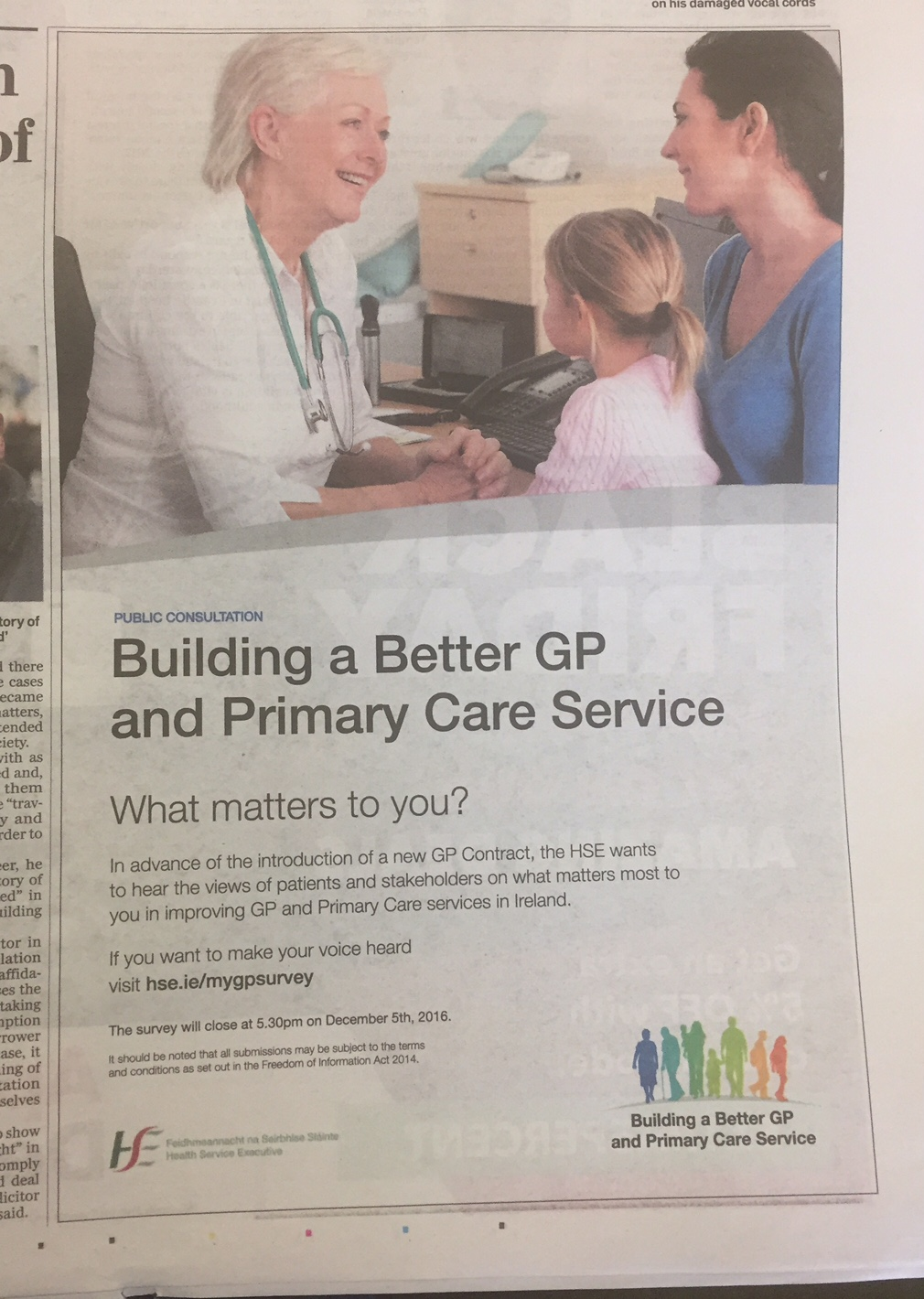 HSE – Building a better GP and primary care service