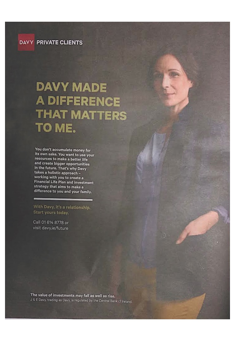 Davy private clients – Davy made a difference that matters to me