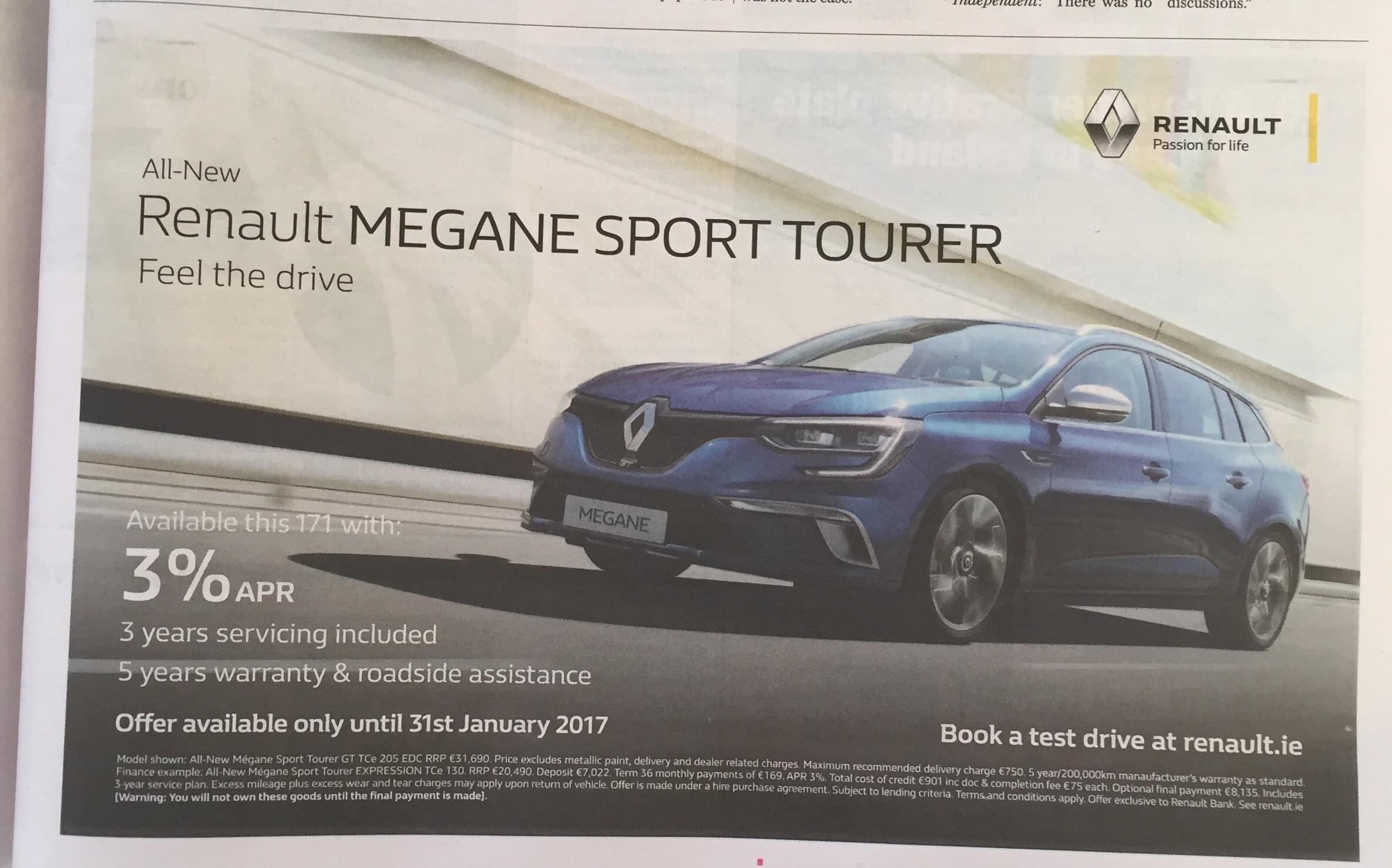 Renault Megane sport tourer – feel the drive
