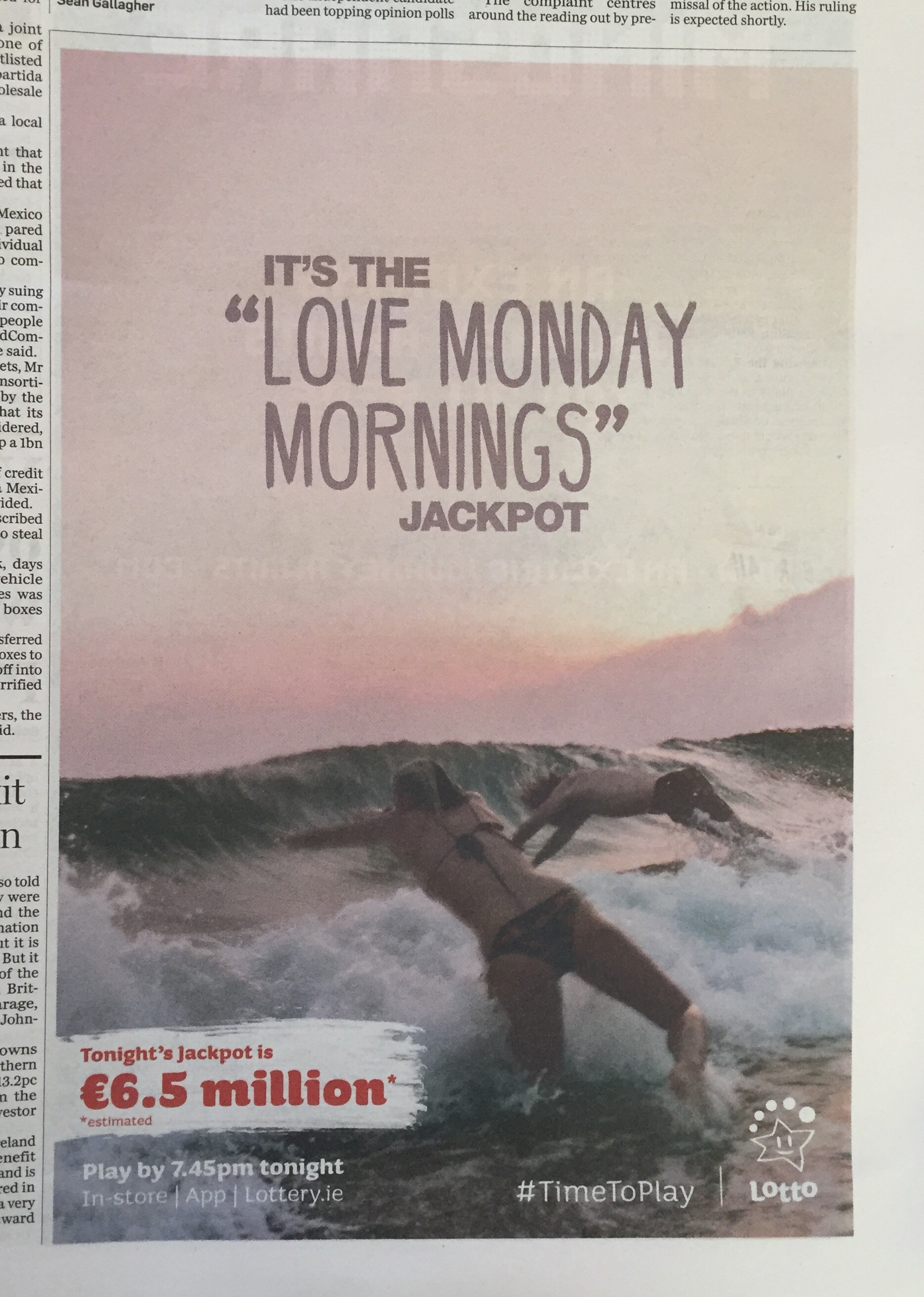 Lotto / it's the love Monday mornings jackpot