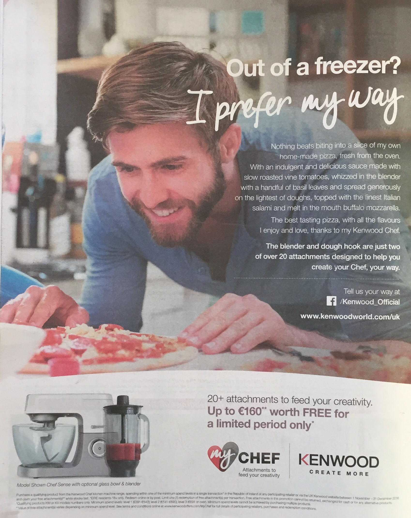 Kenwood my chef – Out of a freezer? I prefer my way