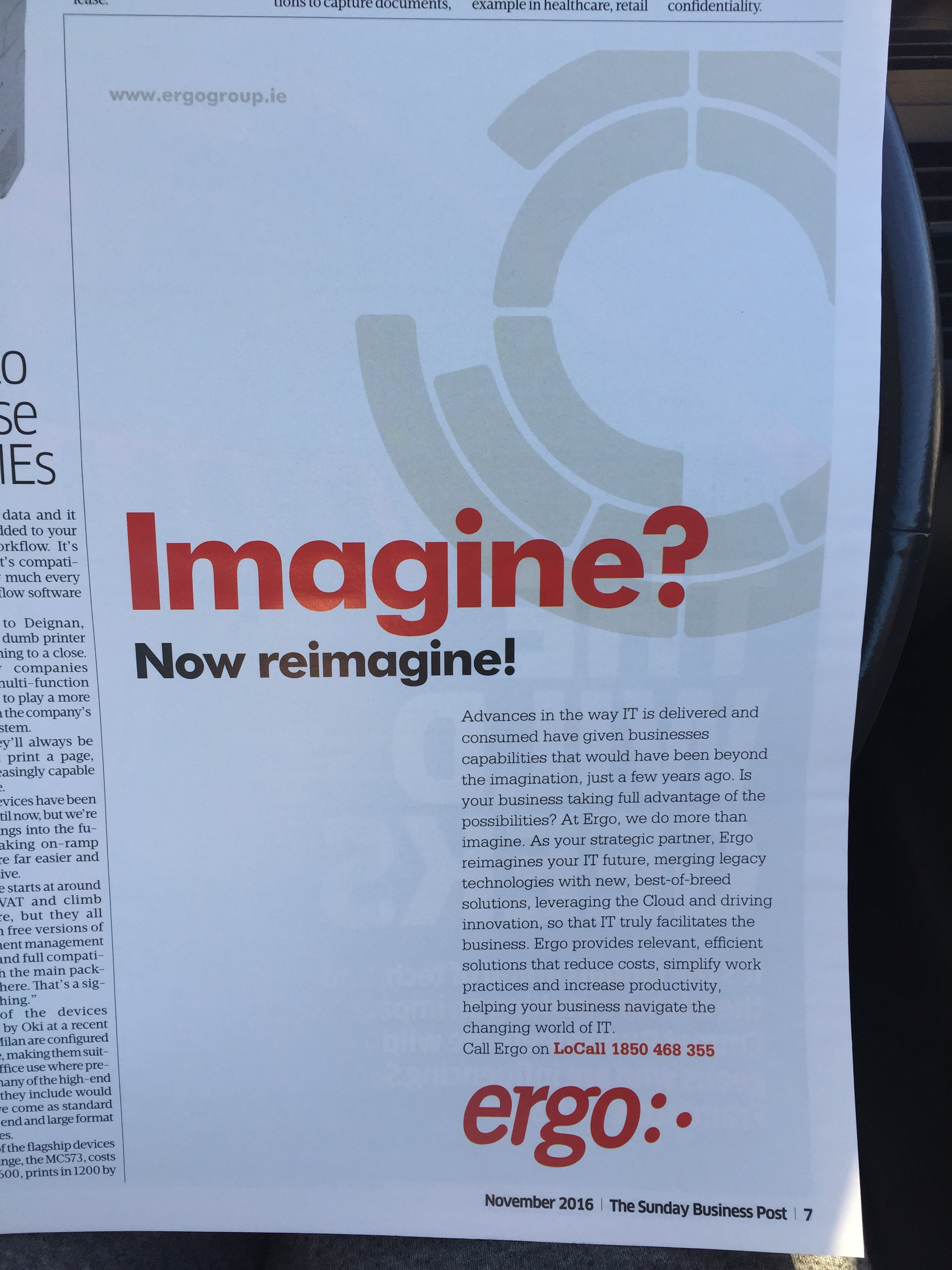Ergo – Imagine? Now reimagine!