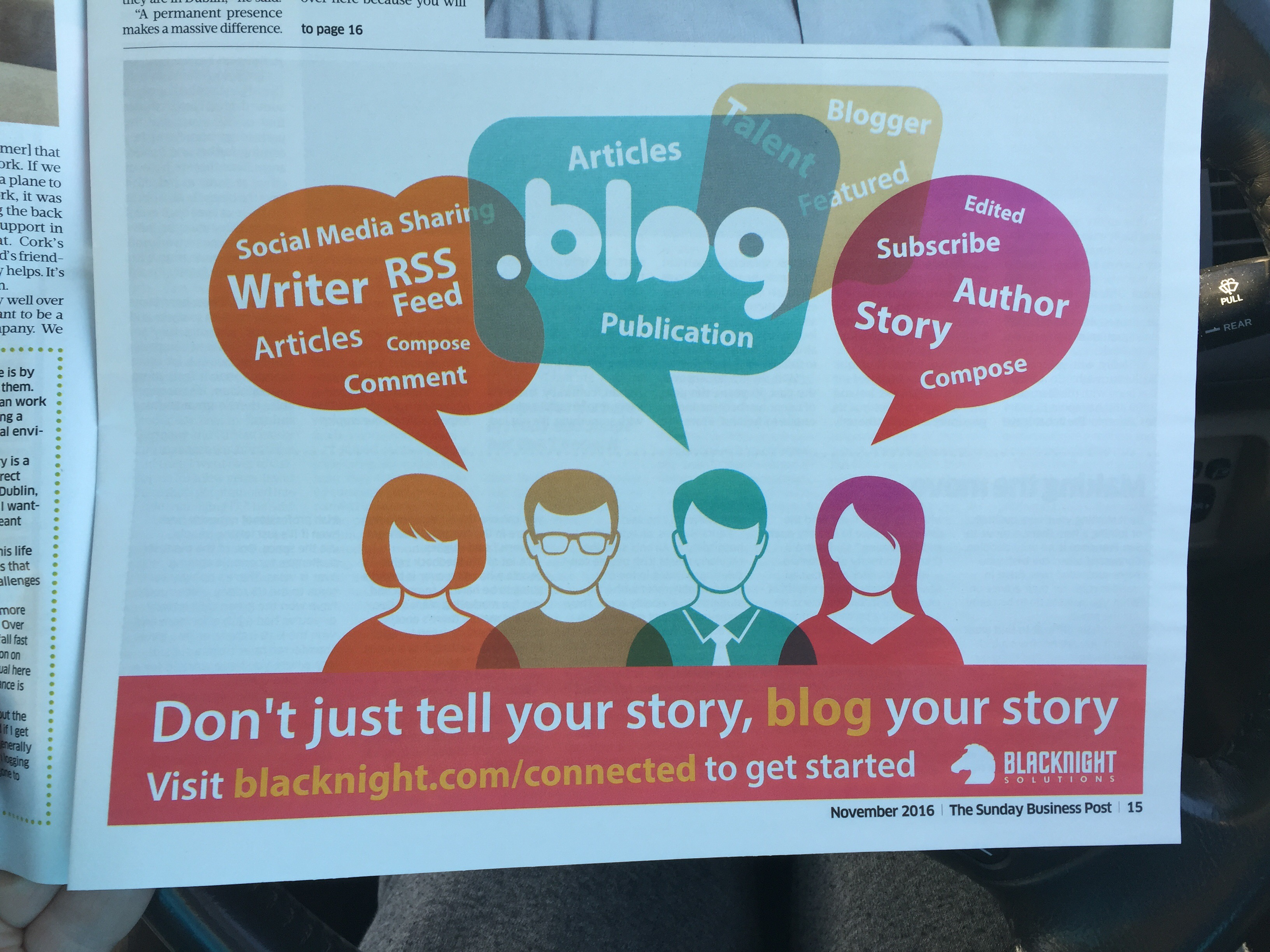 Blacknight Solutions – don't just tell your story, blog your story