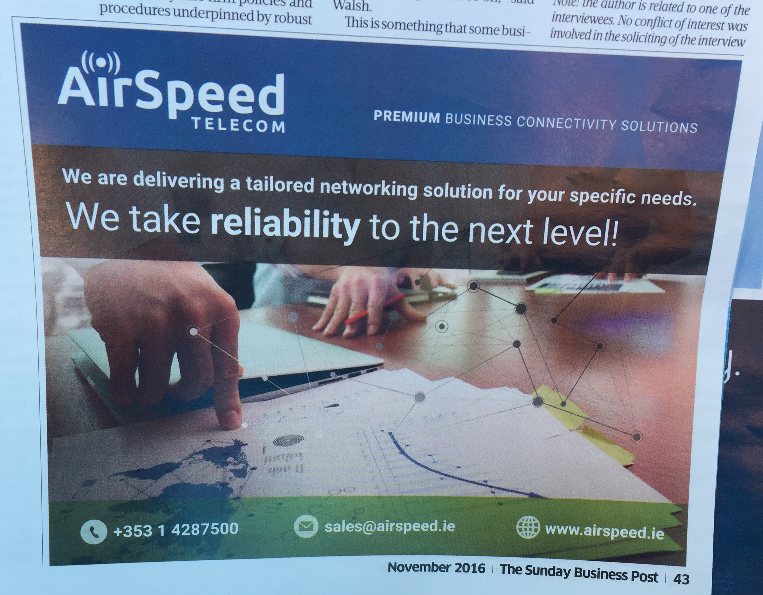 Airspeed telecom – we take reliability to the next level