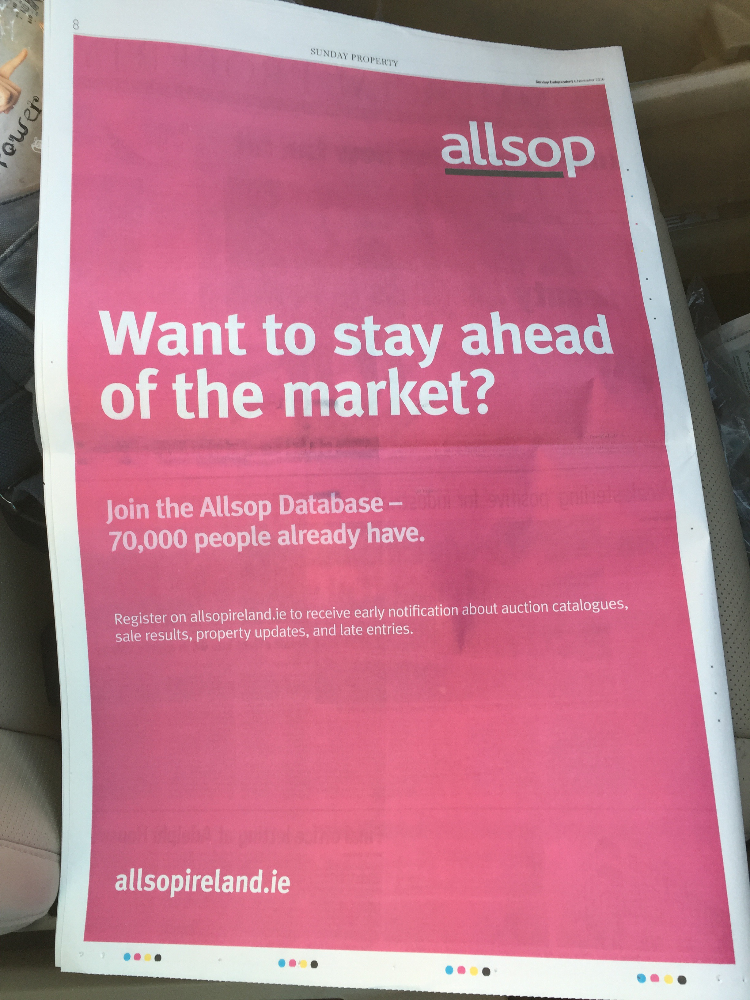 Allsop – want to stay ahead of the market?