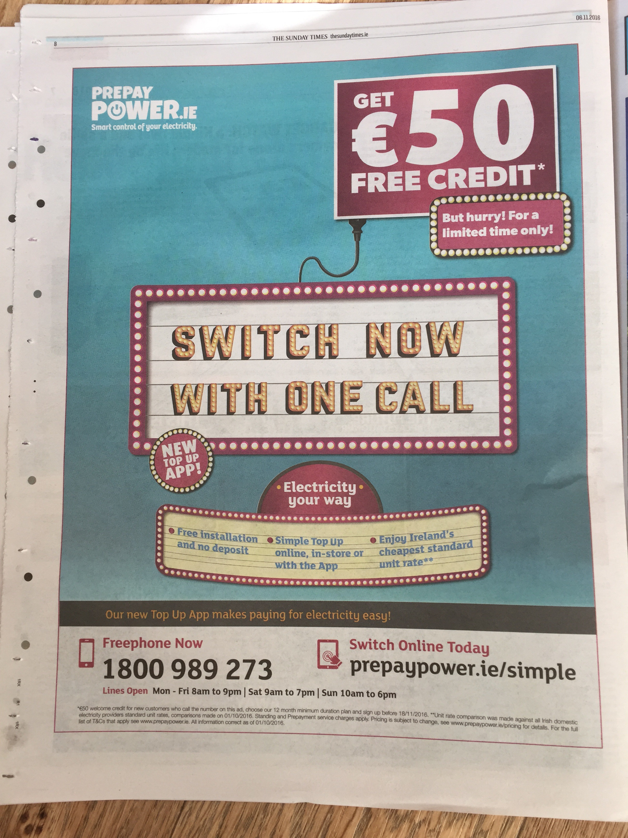 Pre pay power.ie – get €50 free credit