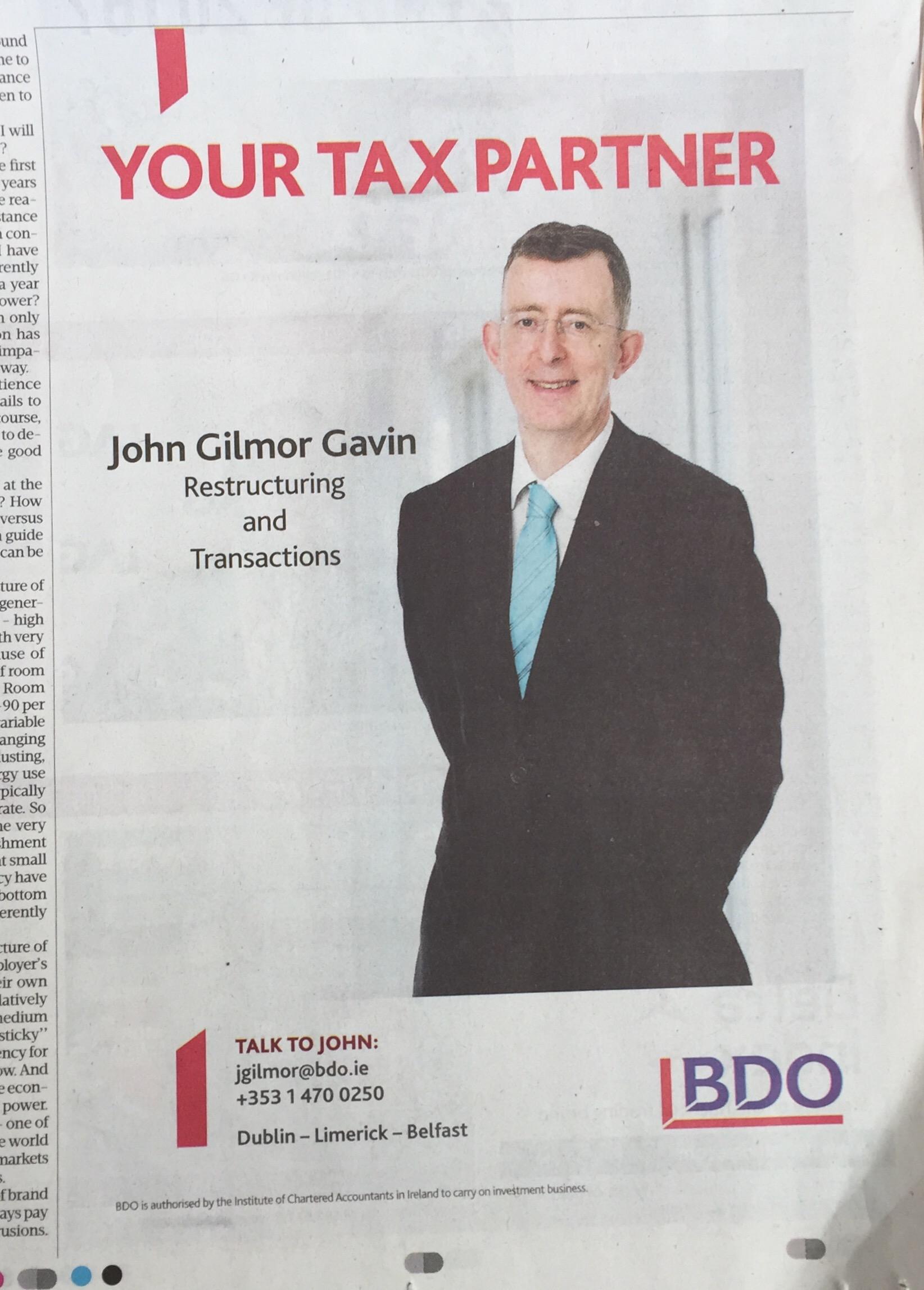 Bdo – your tax partner
