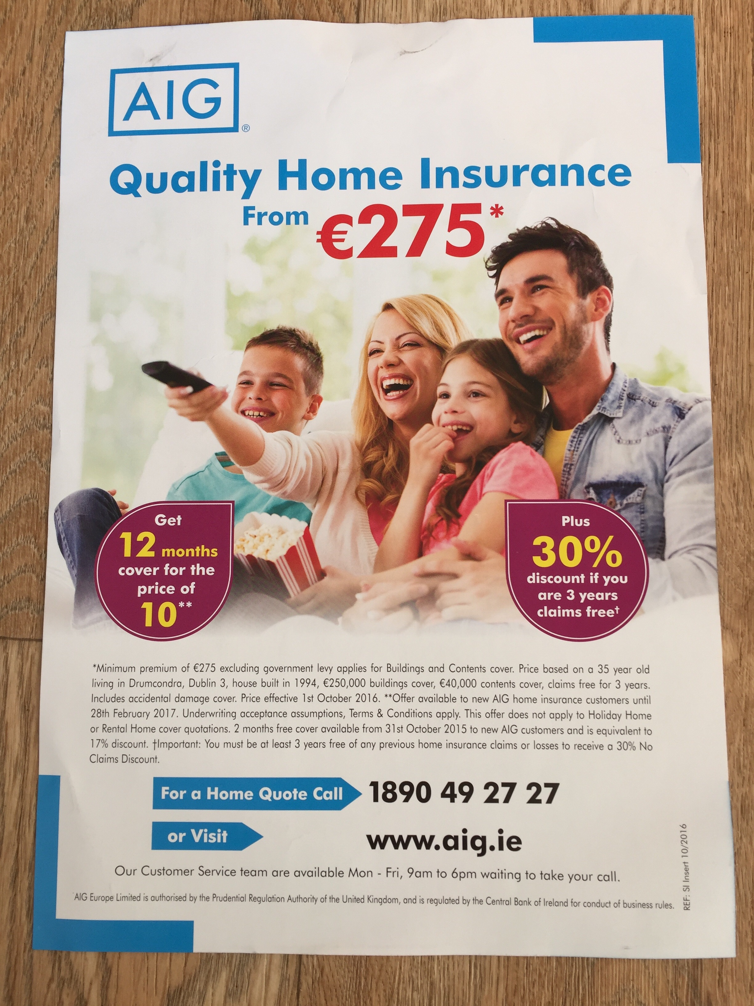 AIG – quality home insurance  / save up to €200 on your car insurance