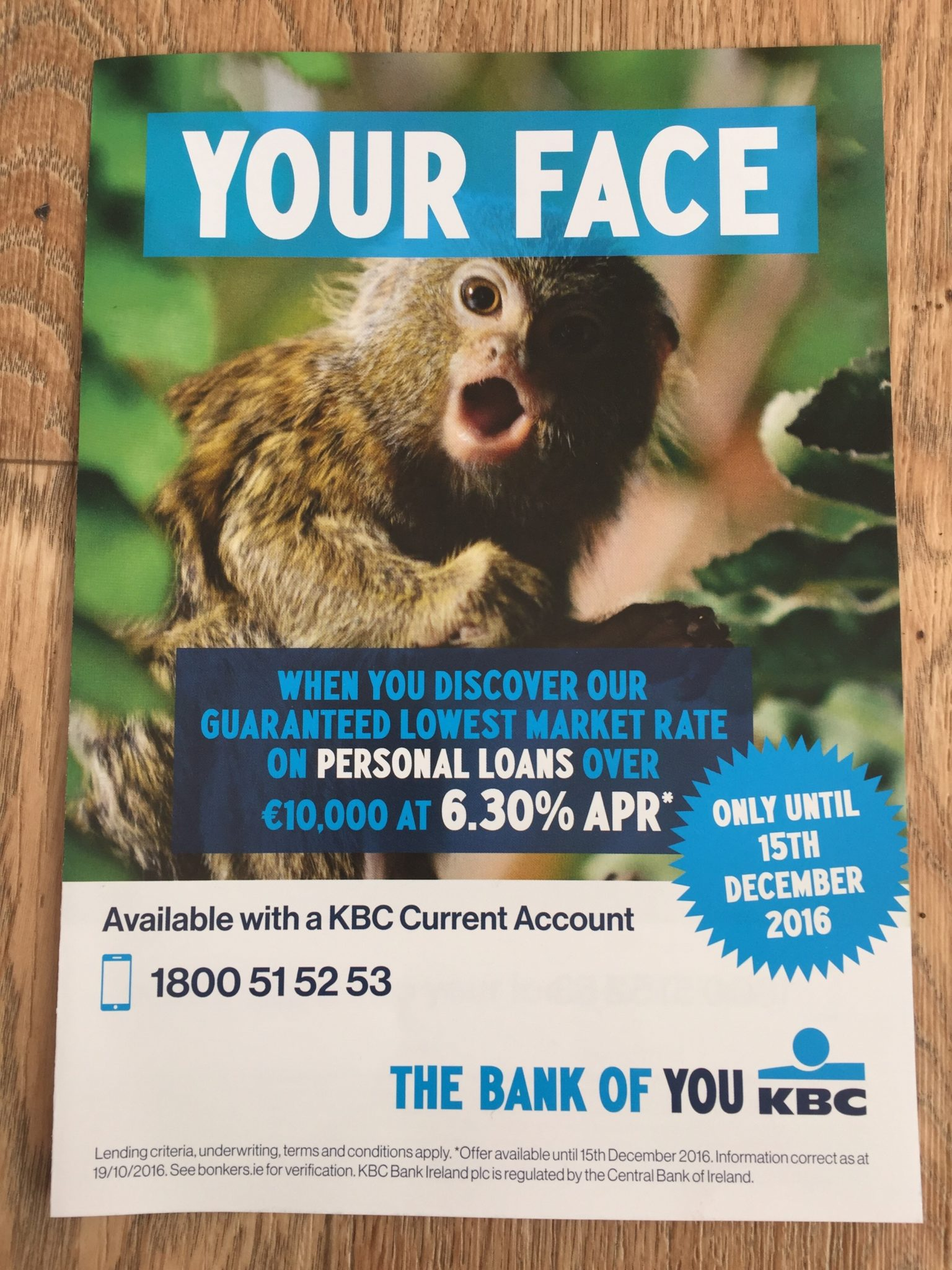 KBC – your face when you discover our guaranteed lowest market rate