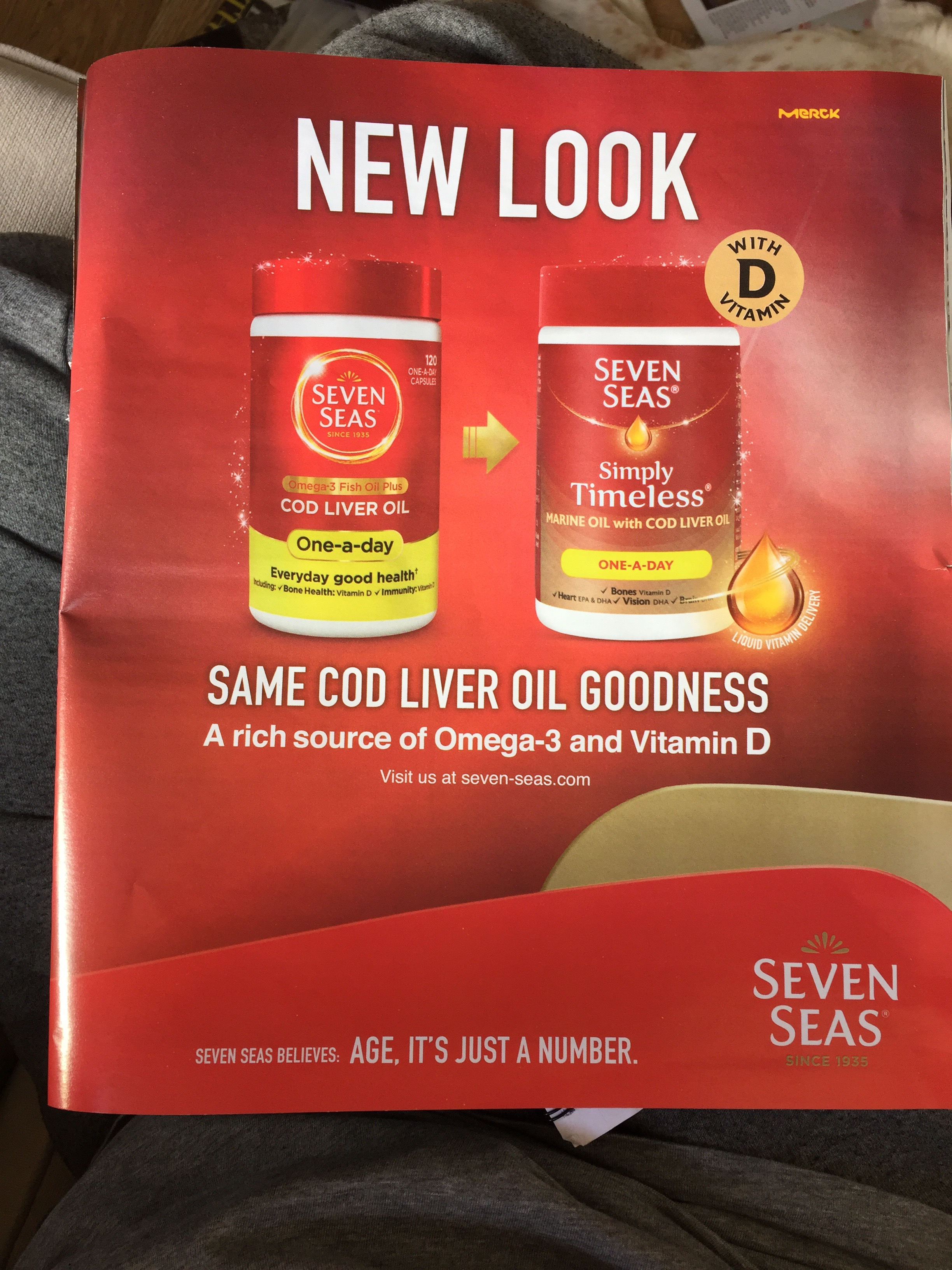 Seven seas – new look same cod liver oil goodness