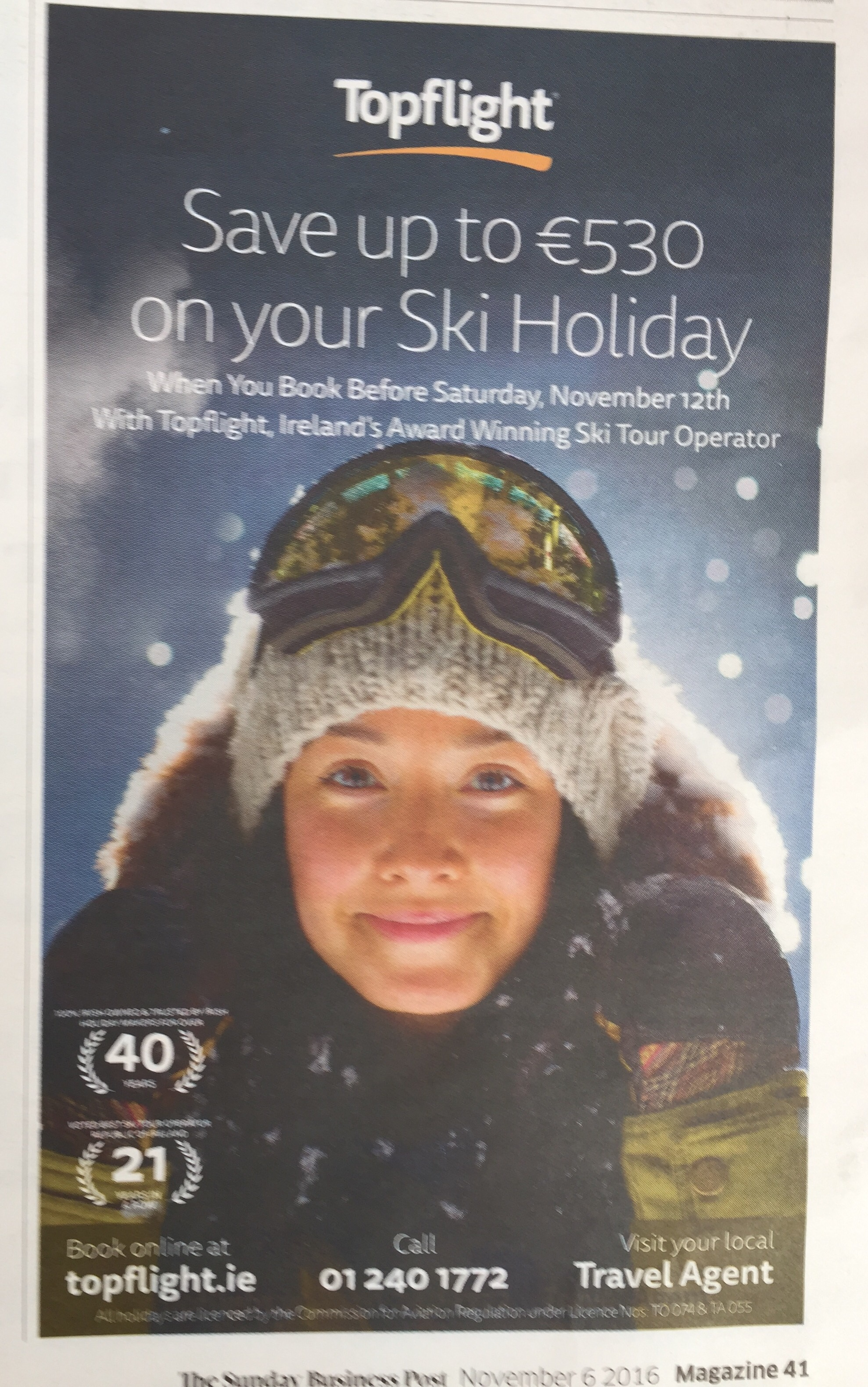 Topflight – save up to €530 on your ski holiday