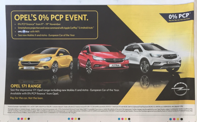 Opel – opel's 0% pcp event