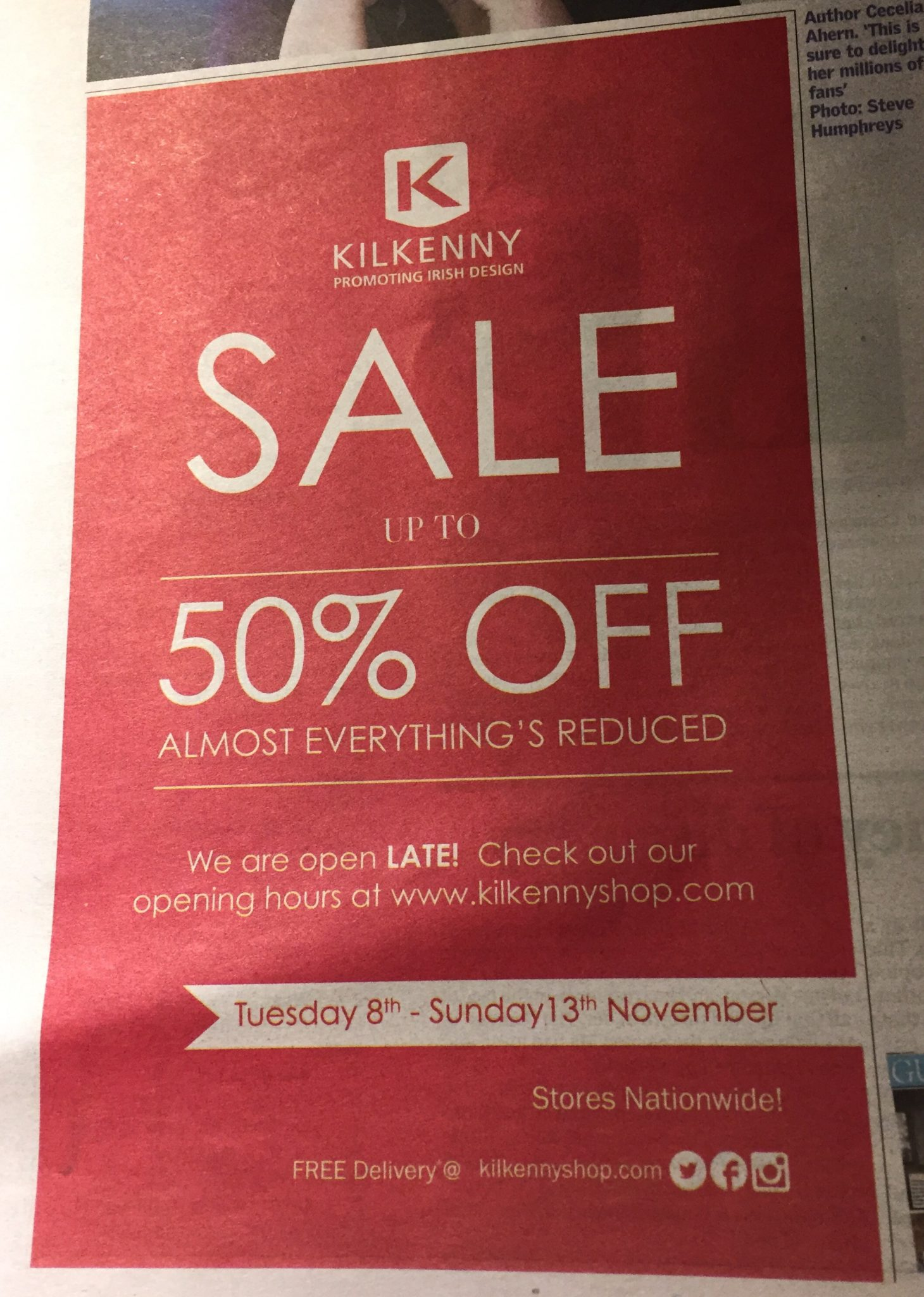 Kilkenny – sale up to 50% off