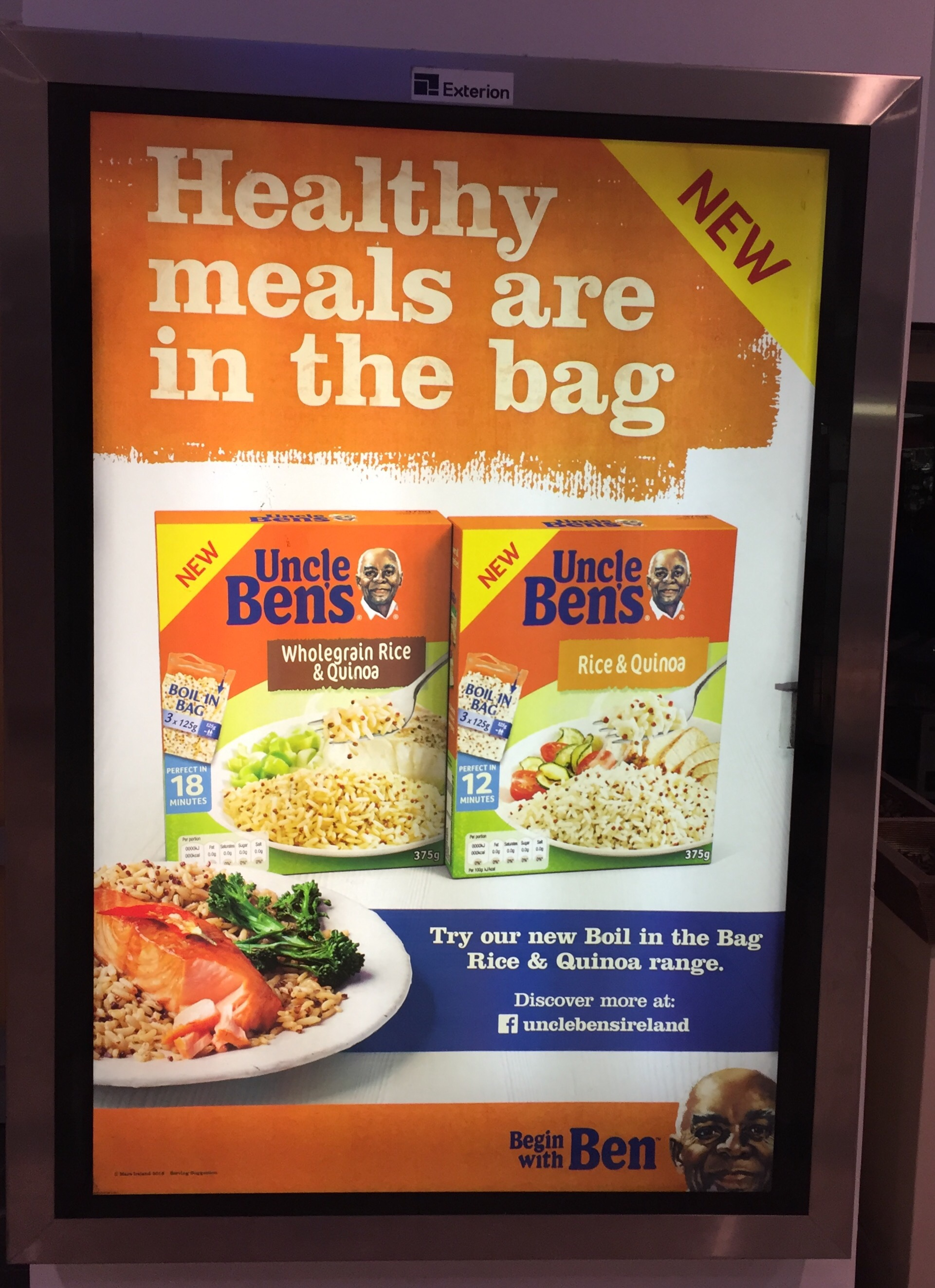 Uncle Bens – healthy meals are in the bag