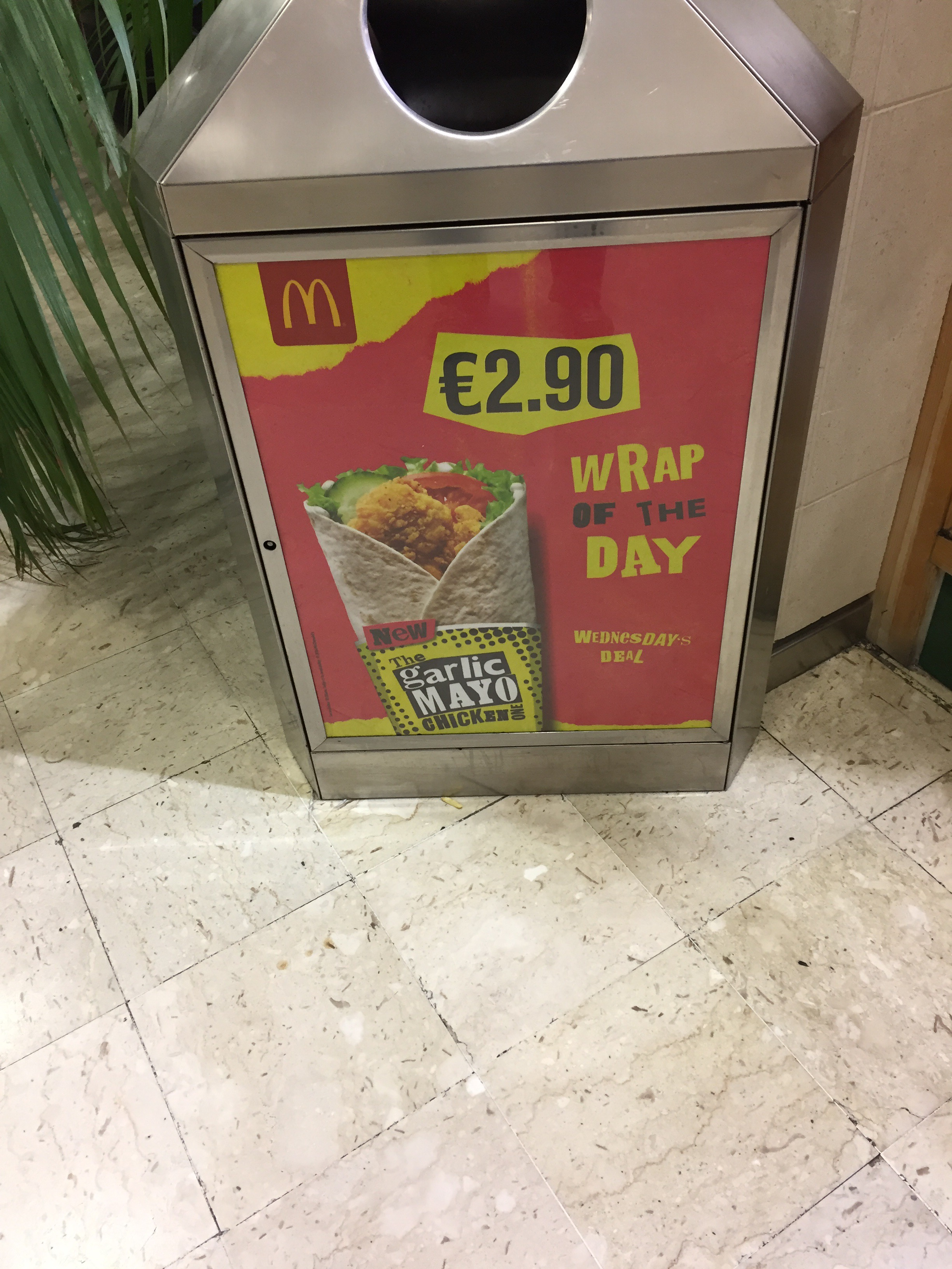 McDonald's – €2.90 wrap of the day