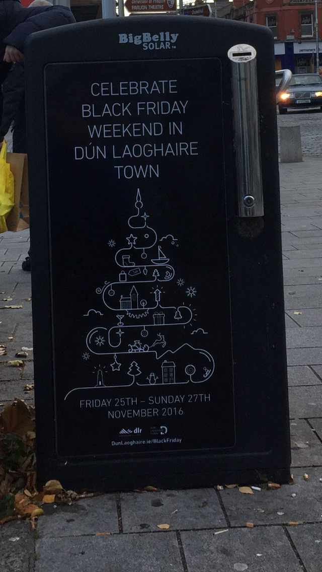 Dun Laoghaire – celebrate Black Friday weekend in dun laoghaire town