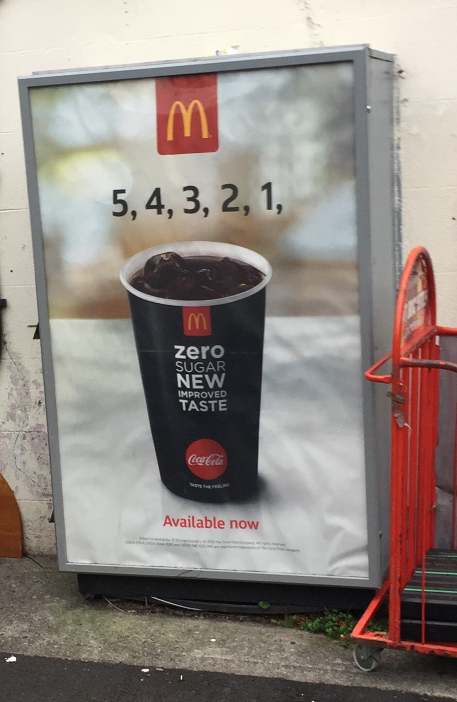 McDonalds – 5,4,3,2,1 zero sugar new improve taste Coca Cola available now