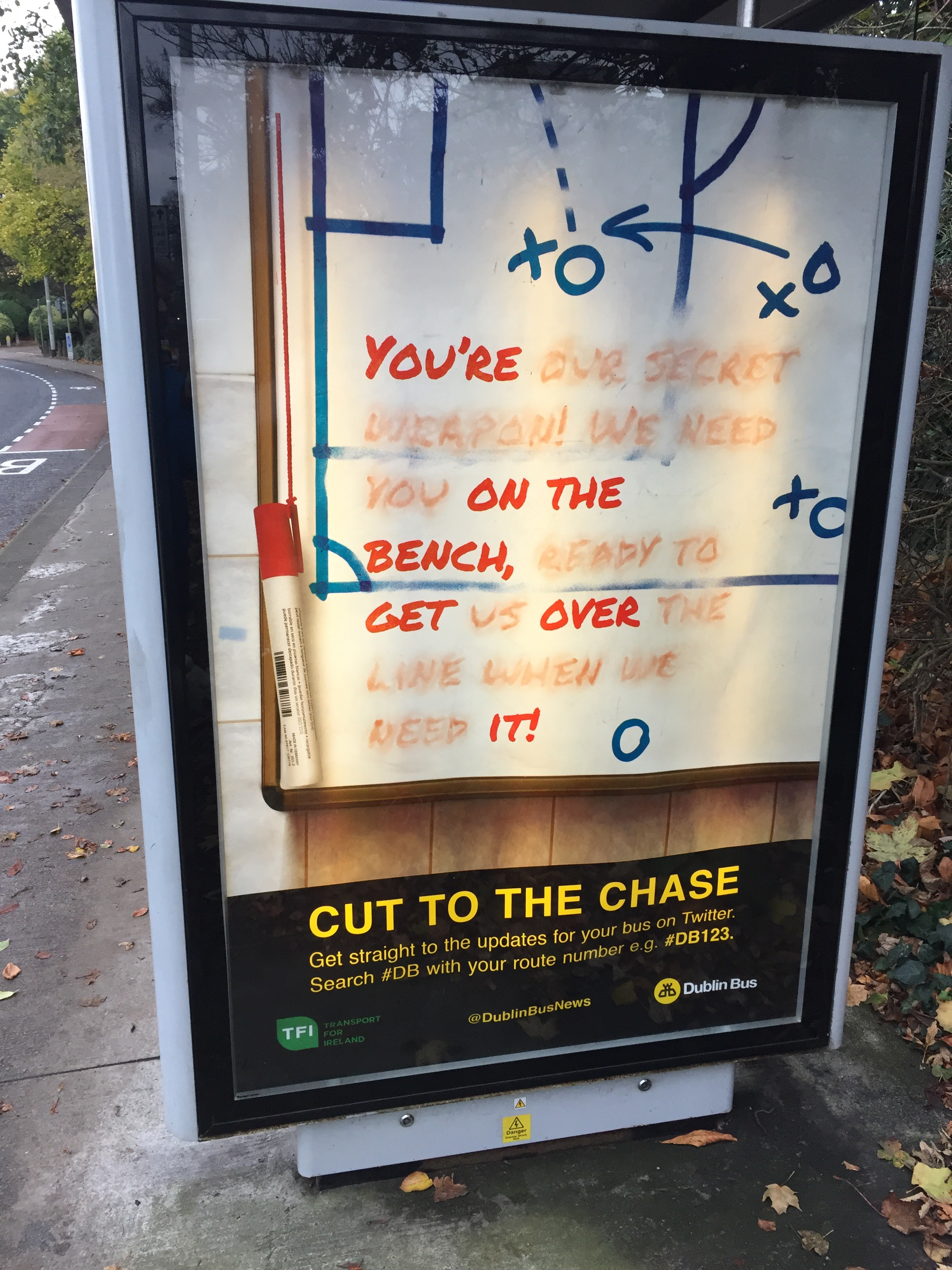 Dublin Bus – you're on the bench get over it