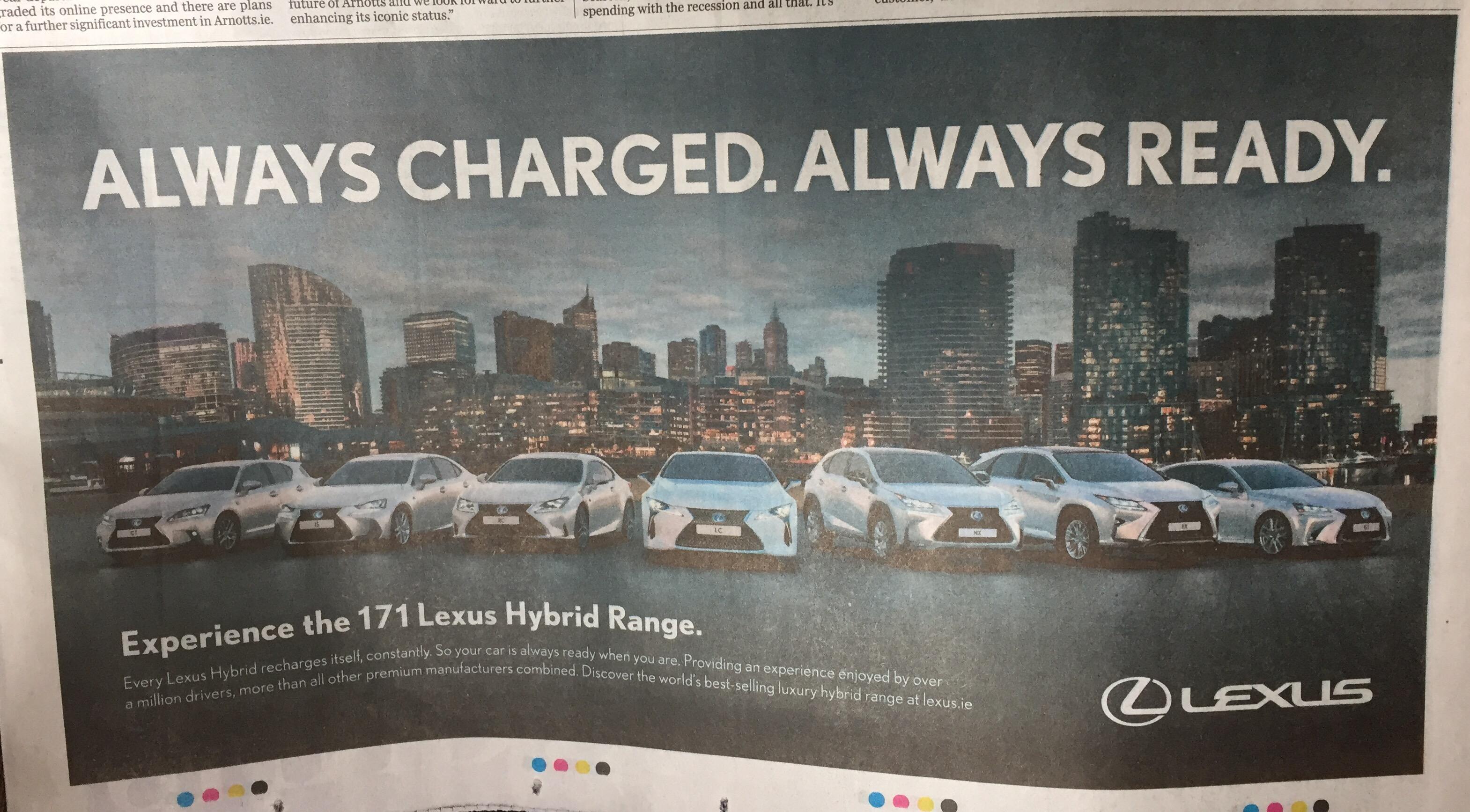 Lexus – Always charged. Always ready.