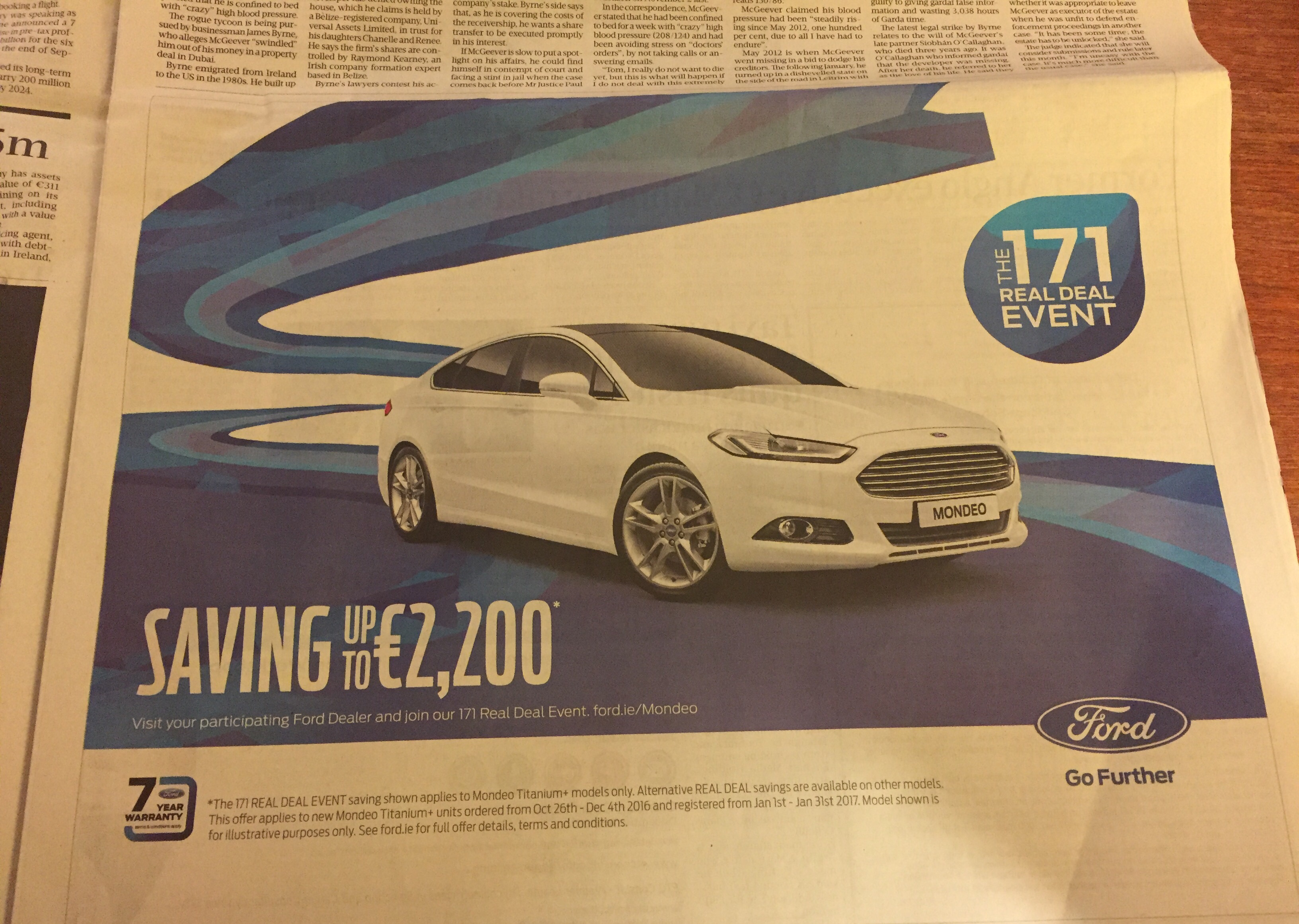 Ford – saving up to €2200