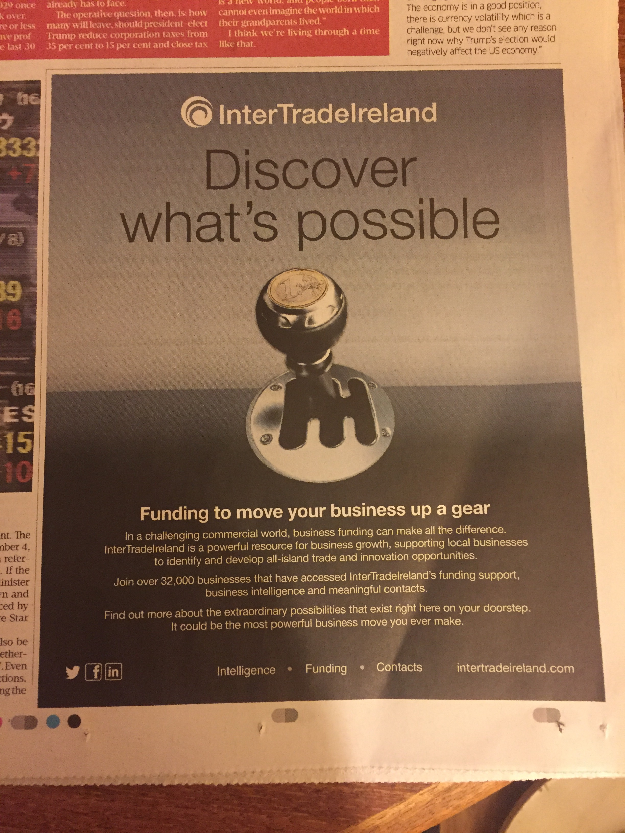 InterTradeIreland – Discover what's possible. Funding to move your business up a gear.