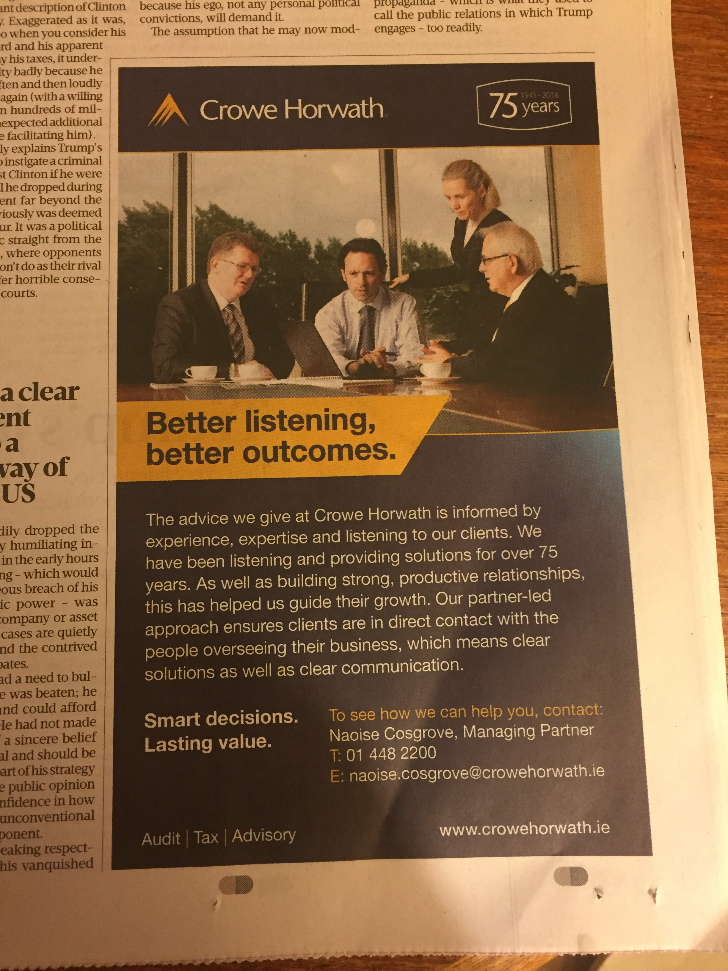 Crowe Horwath – better listening better outcomes