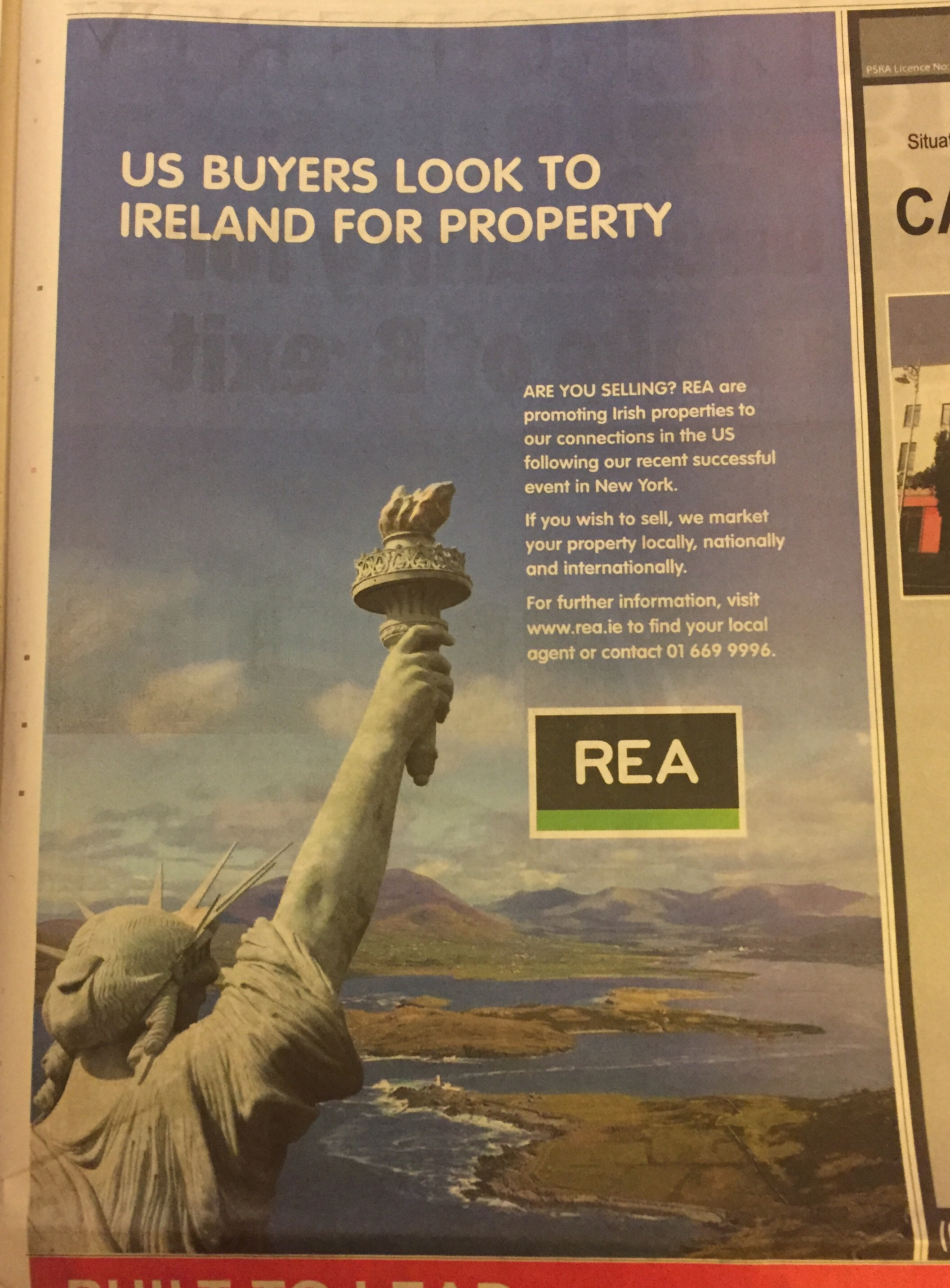 REA – US buyers look to ireland for property