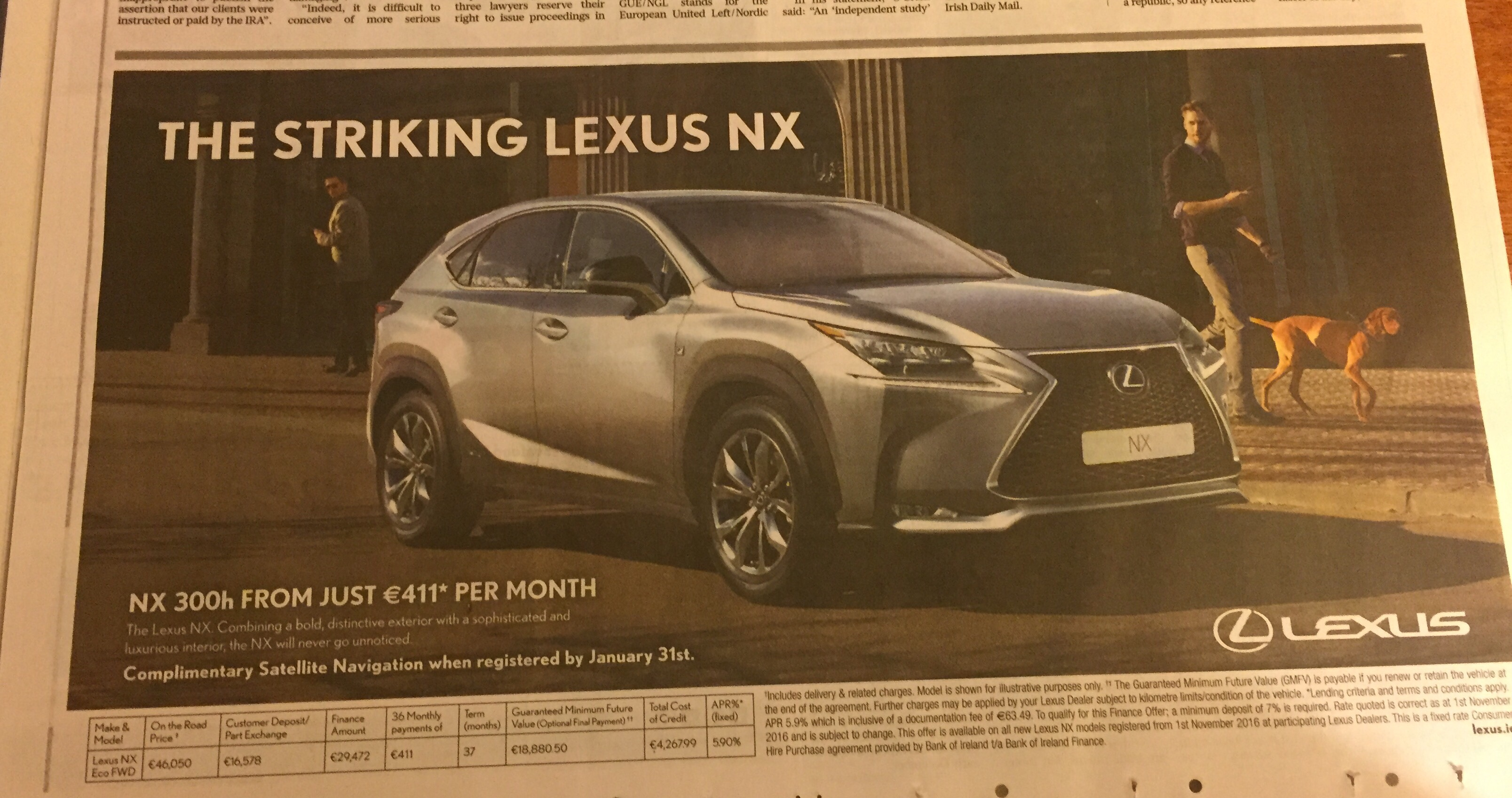 Lexus NX – The striking Lexus NX