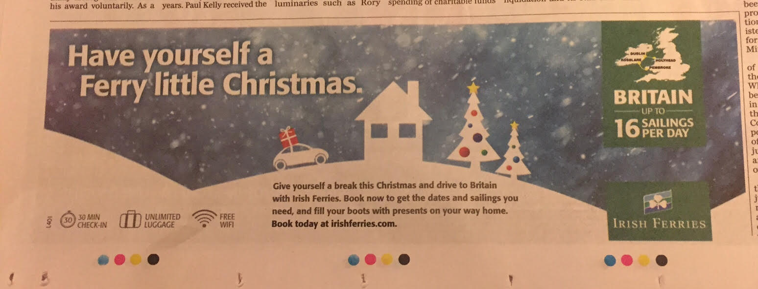 Irish Ferries – Have yourself a Ferry little Christmas