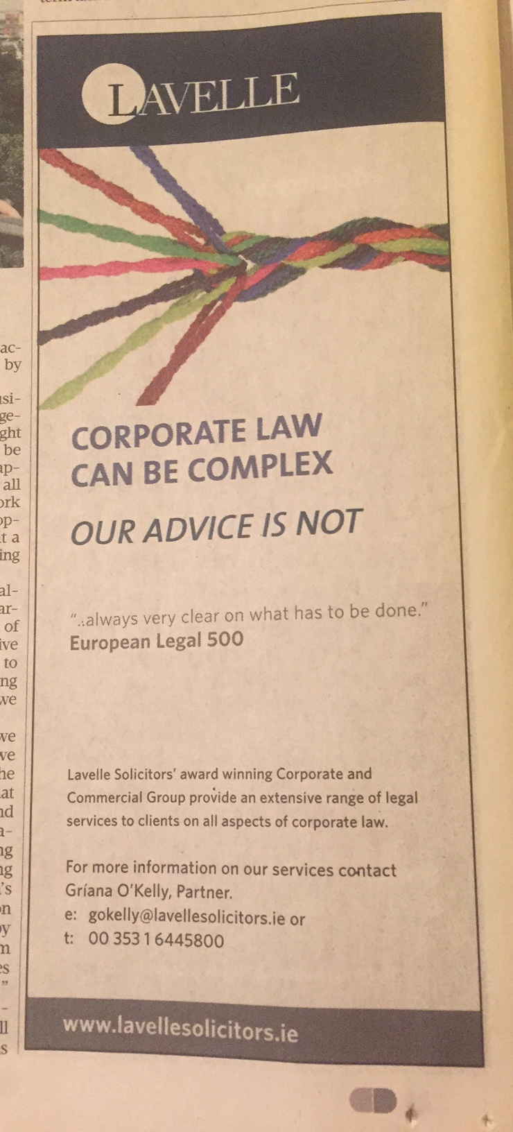 Lavelle – corporate law can be complex – our advice is not