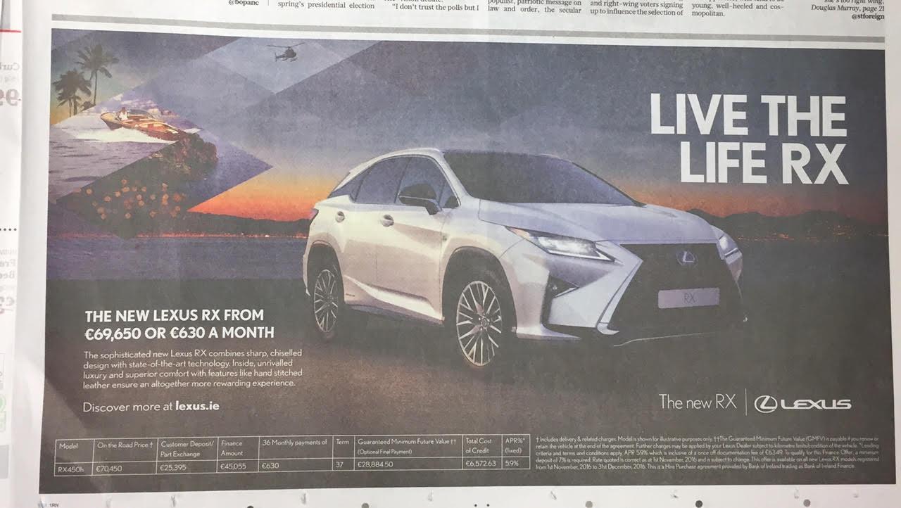 Lexus RX – live the life RX