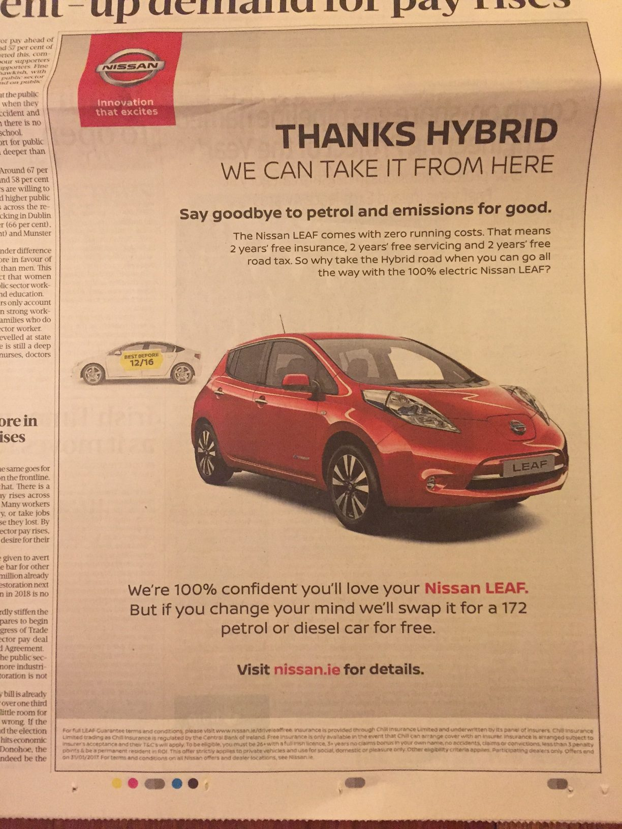 Nissan – thanks hybrid we can take it from here