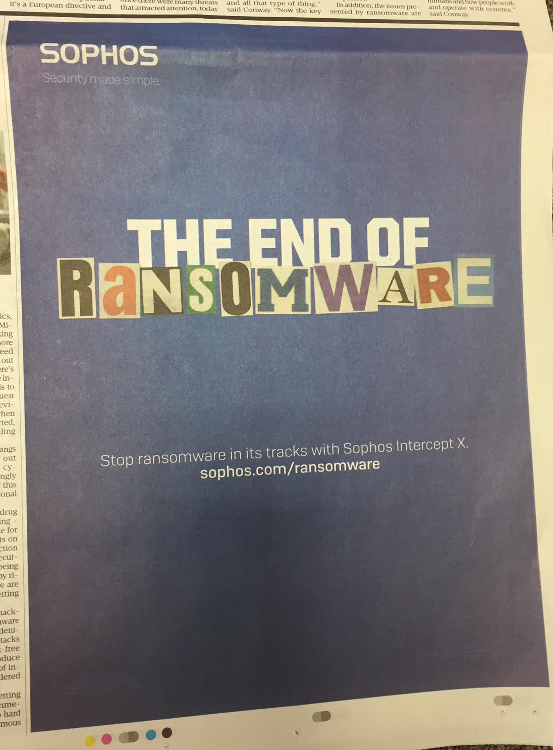 Sophos – the end of ransomware