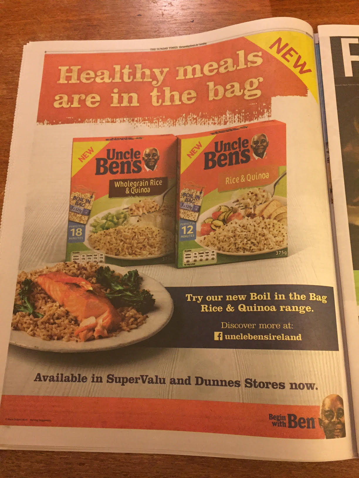 Uncle Ben's – Healthy meals are in the bag
