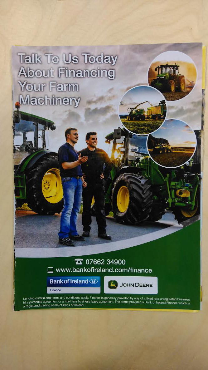 John Deere and Bank of Ireland – financing your farm machinery