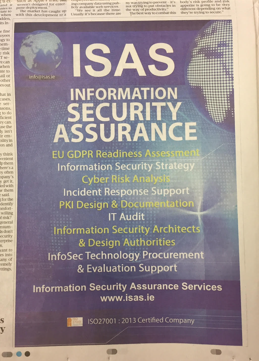 ISAS – Information Security Assurance