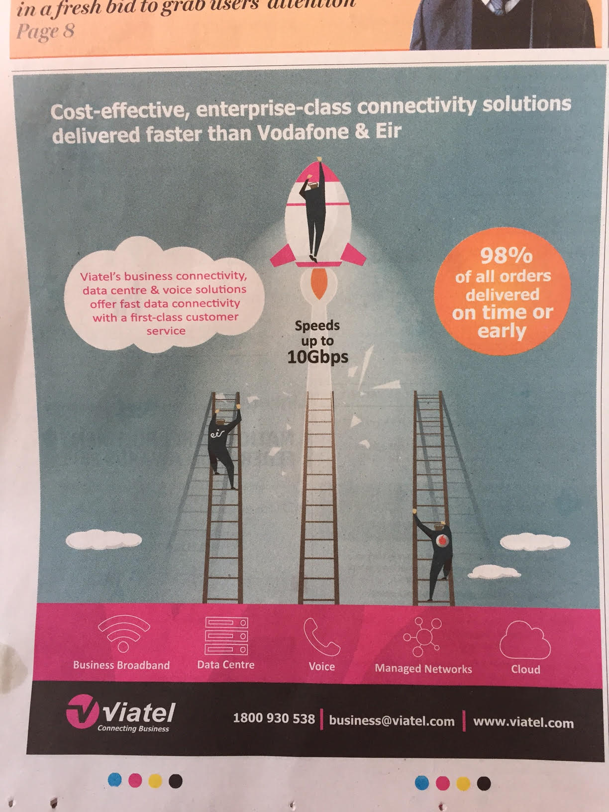 Viatel – cost-effective, enterprise-class connectivity solution delivered faster than Vodafone & Eir