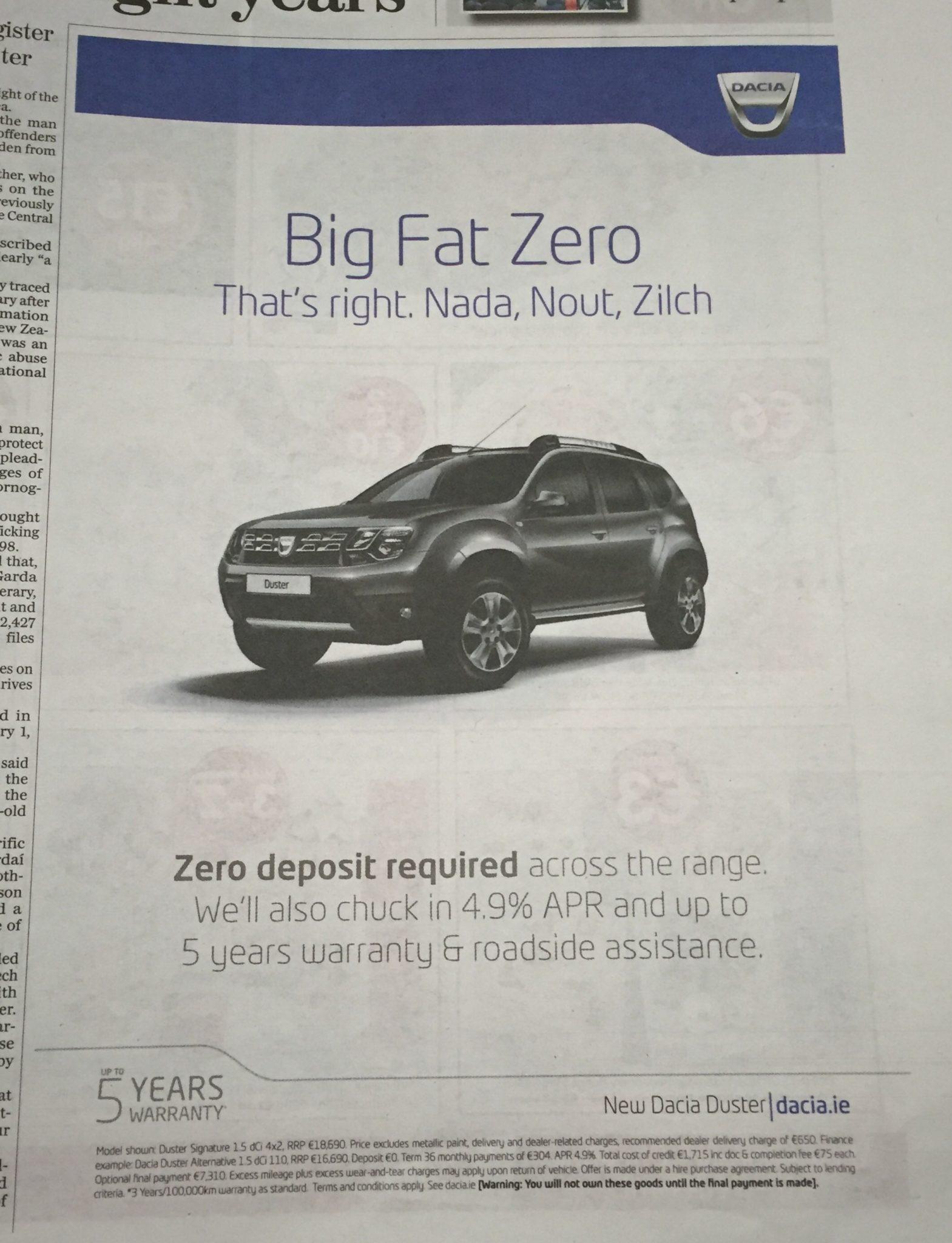 Dacia – big fat zero
