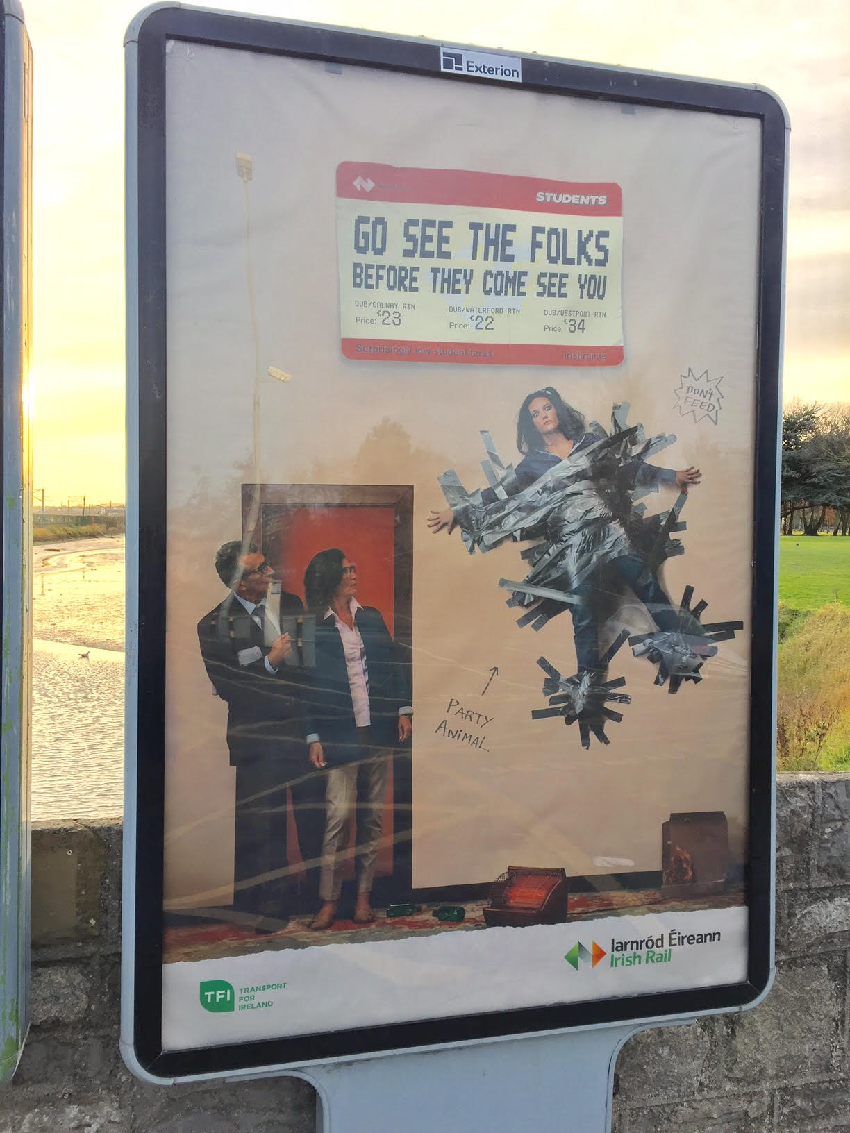 Irish Rail – go see the folks before they come see you