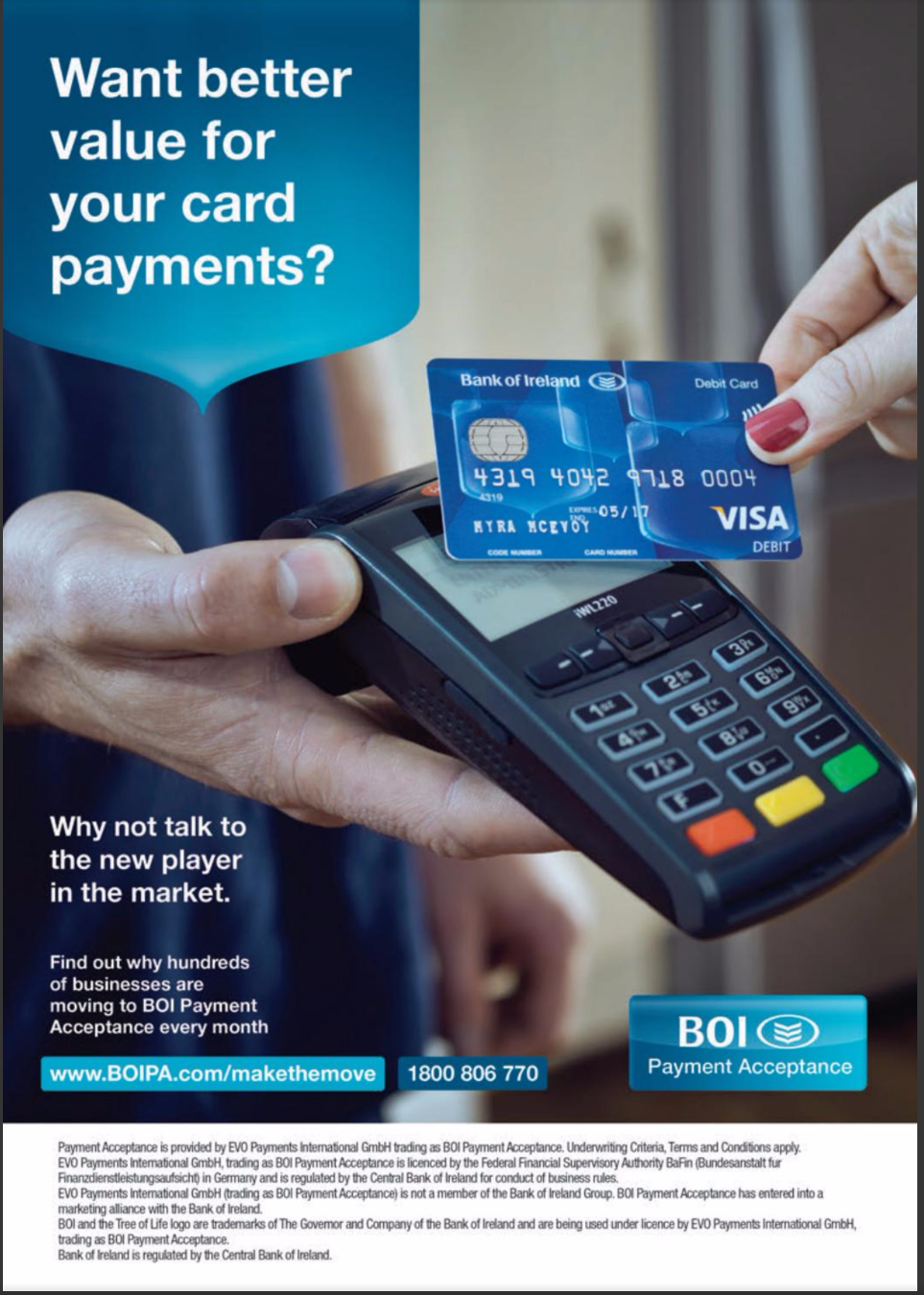 Bank of Ireland Payment Acceptance – Want better value for your card payments?