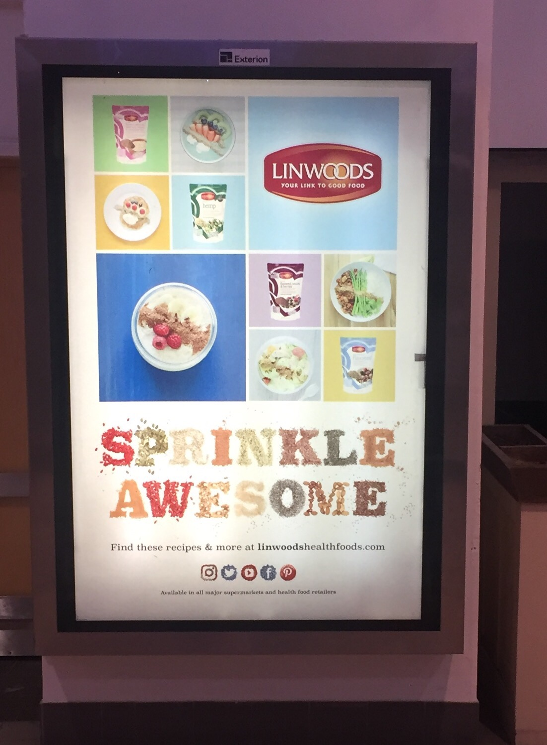 Linwoods – sprinkle awesome